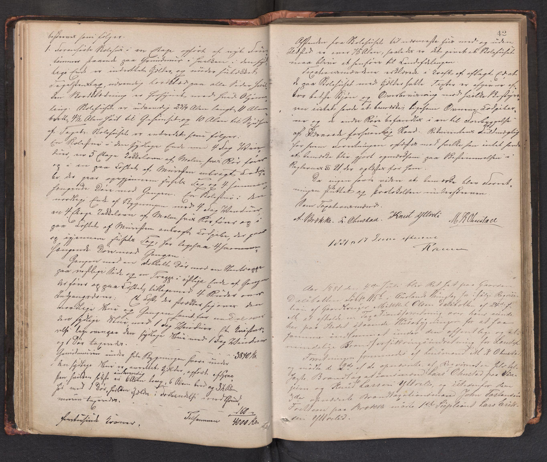 SAB, Lensmannen i Aurland, 0012/L0002: Branntakstprotokoll, 1873-1917, p. 41b-42a
