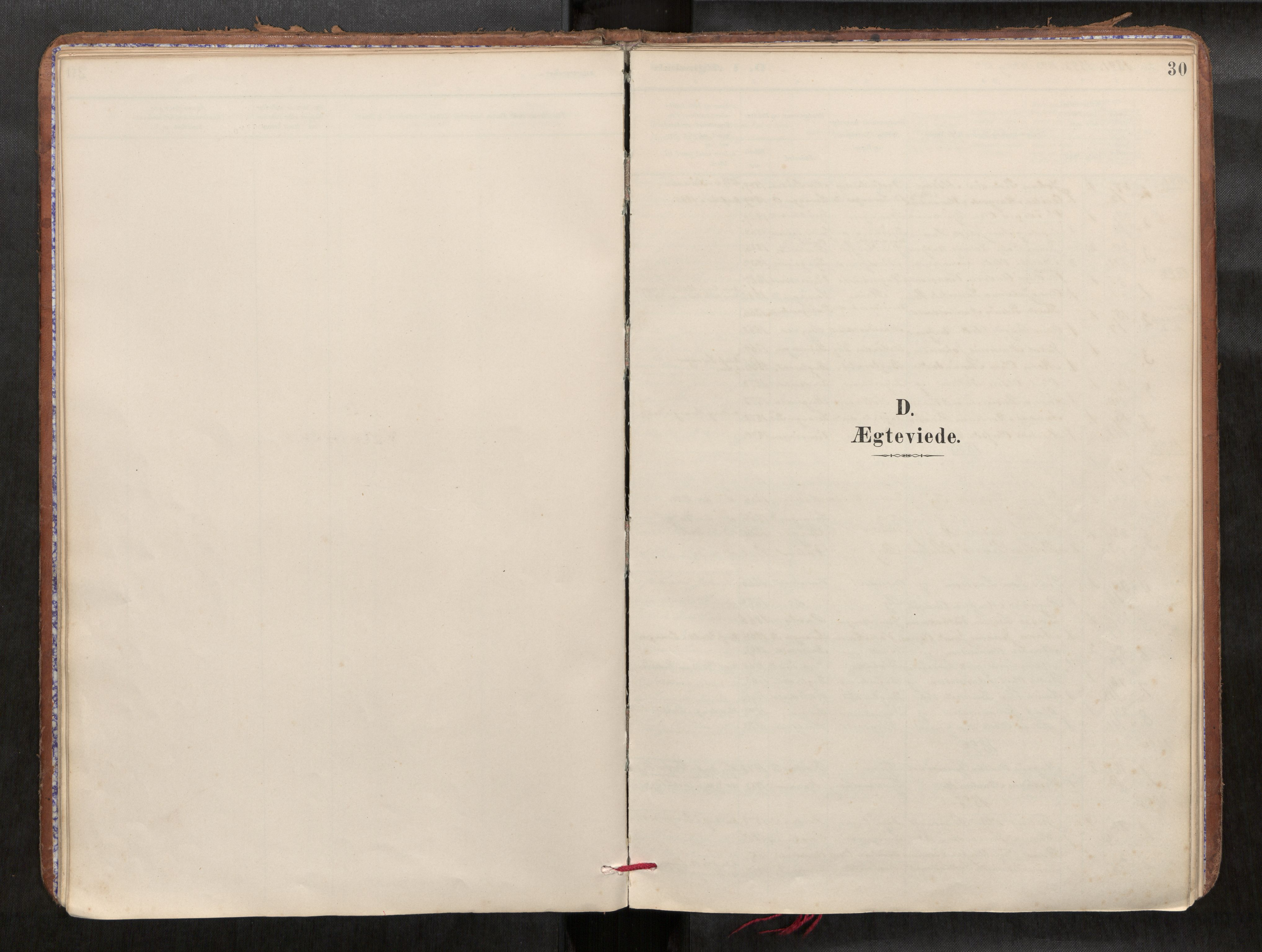 SAT, Verdal sokneprestkontor*, Parish register (official) no. 1, 1891-1907, p. 30