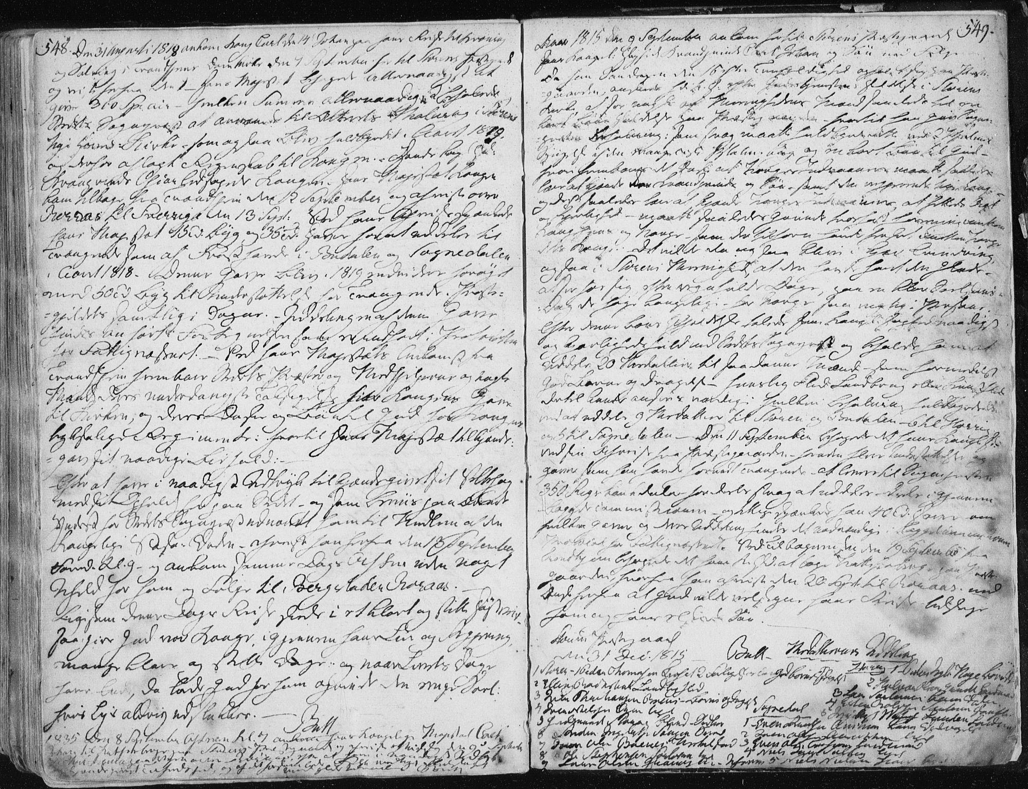SAT, Ministerialprotokoller, klokkerbøker og fødselsregistre - Sør-Trøndelag, 687/L0992: Parish register (official) no. 687A03 /1, 1788-1815, p. 548-549