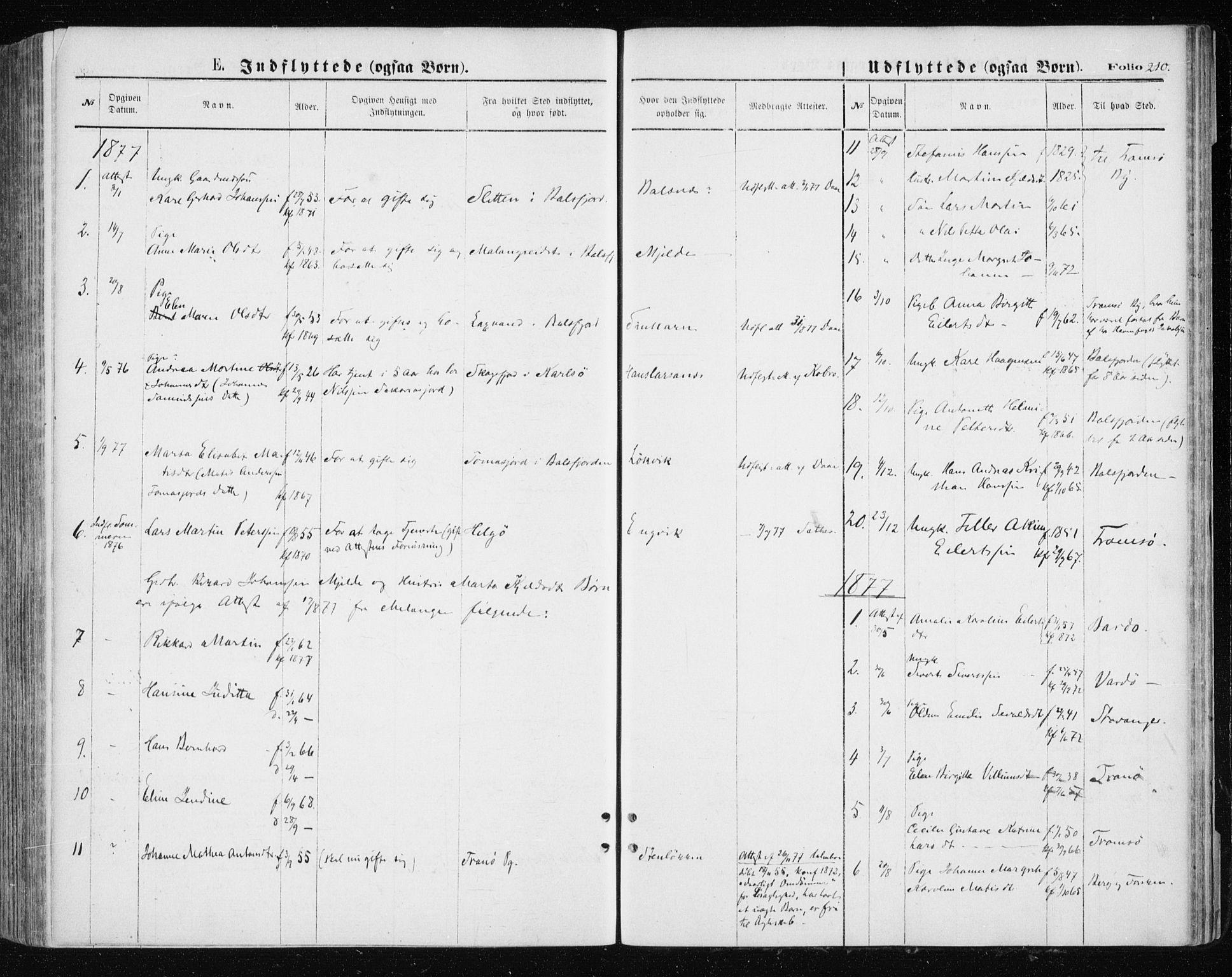 SATØ, Tromsøysund sokneprestkontor, G/Ga/L0003kirke: Parish register (official) no. 3, 1875-1880, p. 210