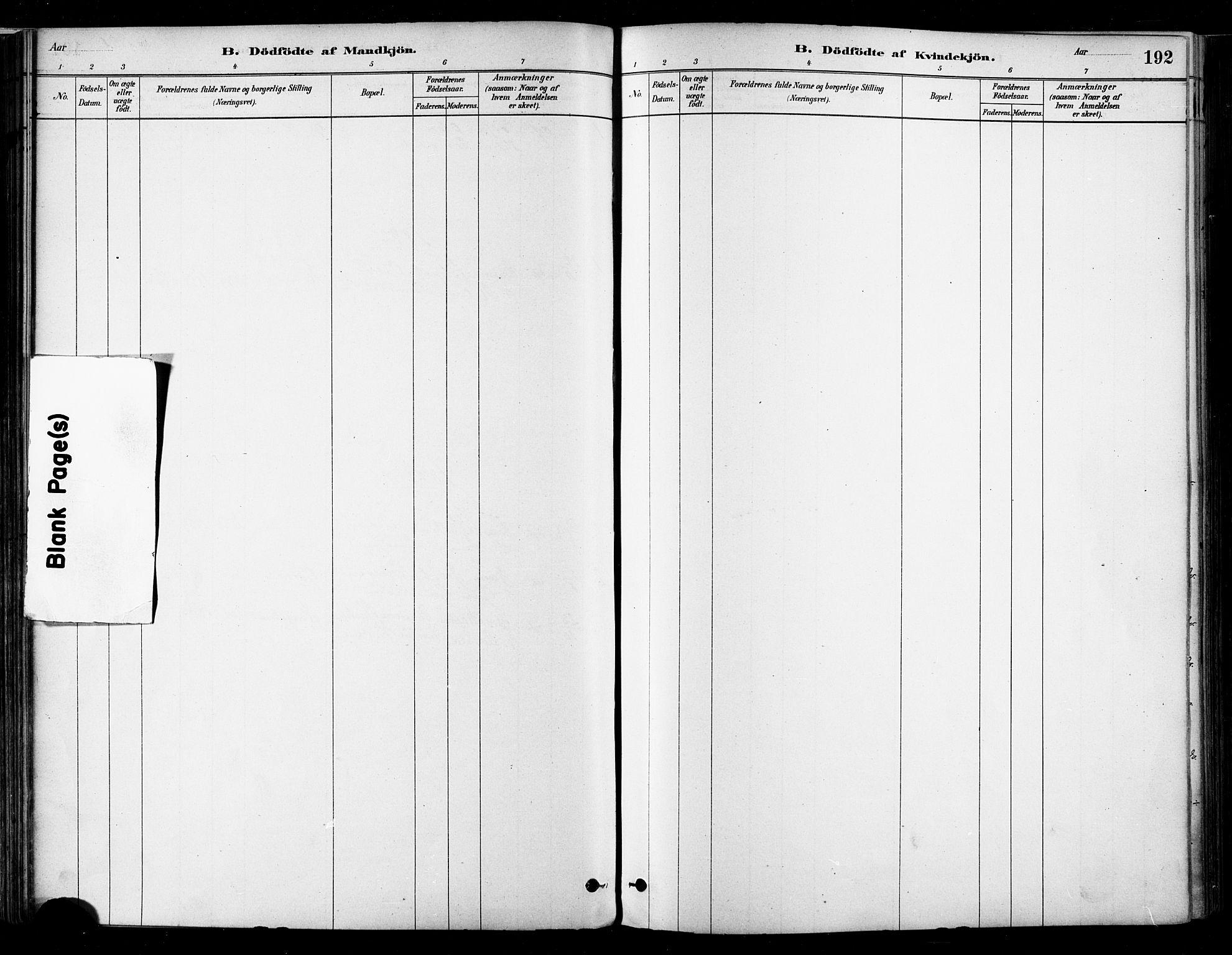 SAT, Ministerialprotokoller, klokkerbøker og fødselsregistre - Nordland, 802/L0054: Parish register (official) no. 802A01, 1879-1893, p. 192