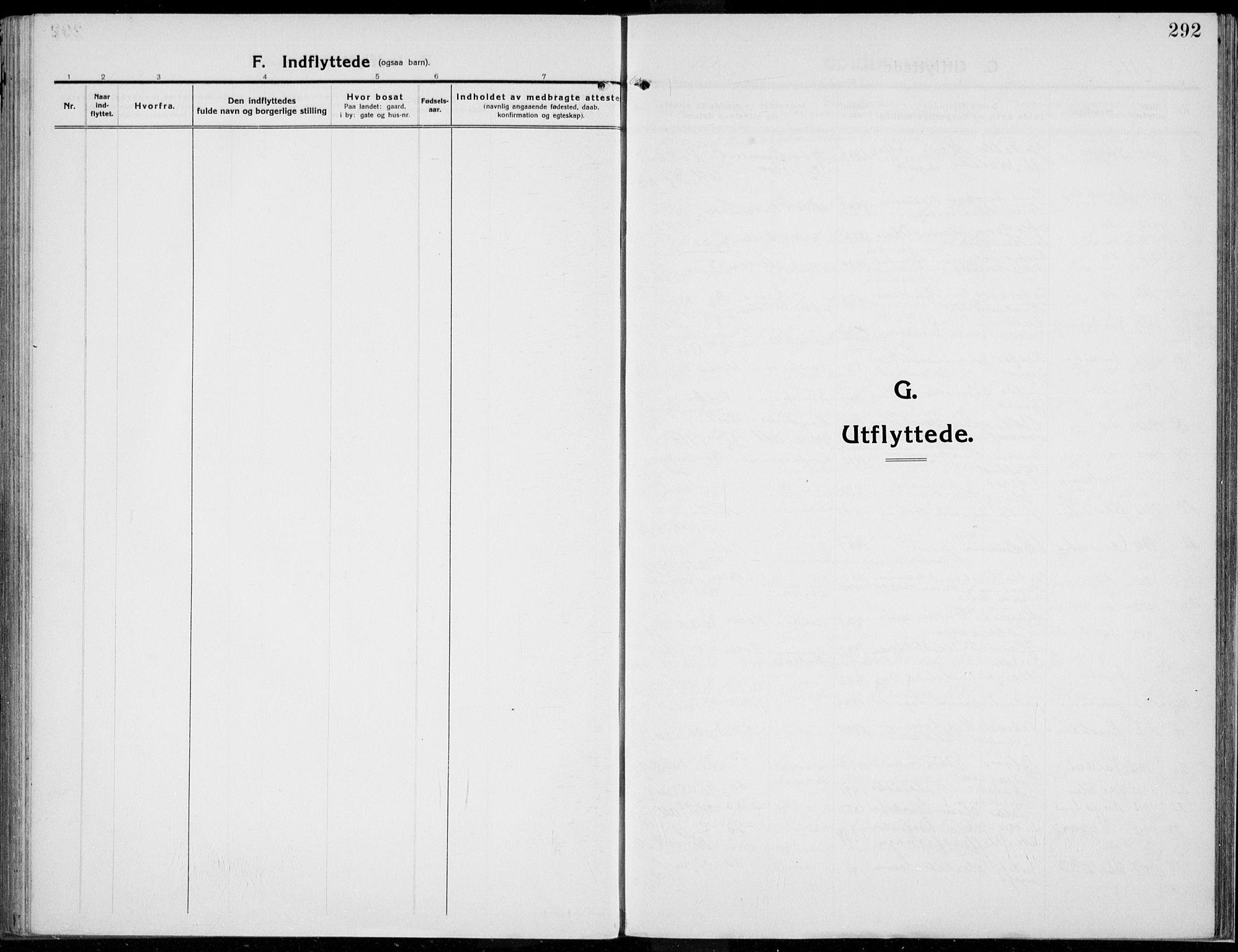 SAH, Kolbu prestekontor, Parish register (official) no. 2, 1912-1926, p. 292