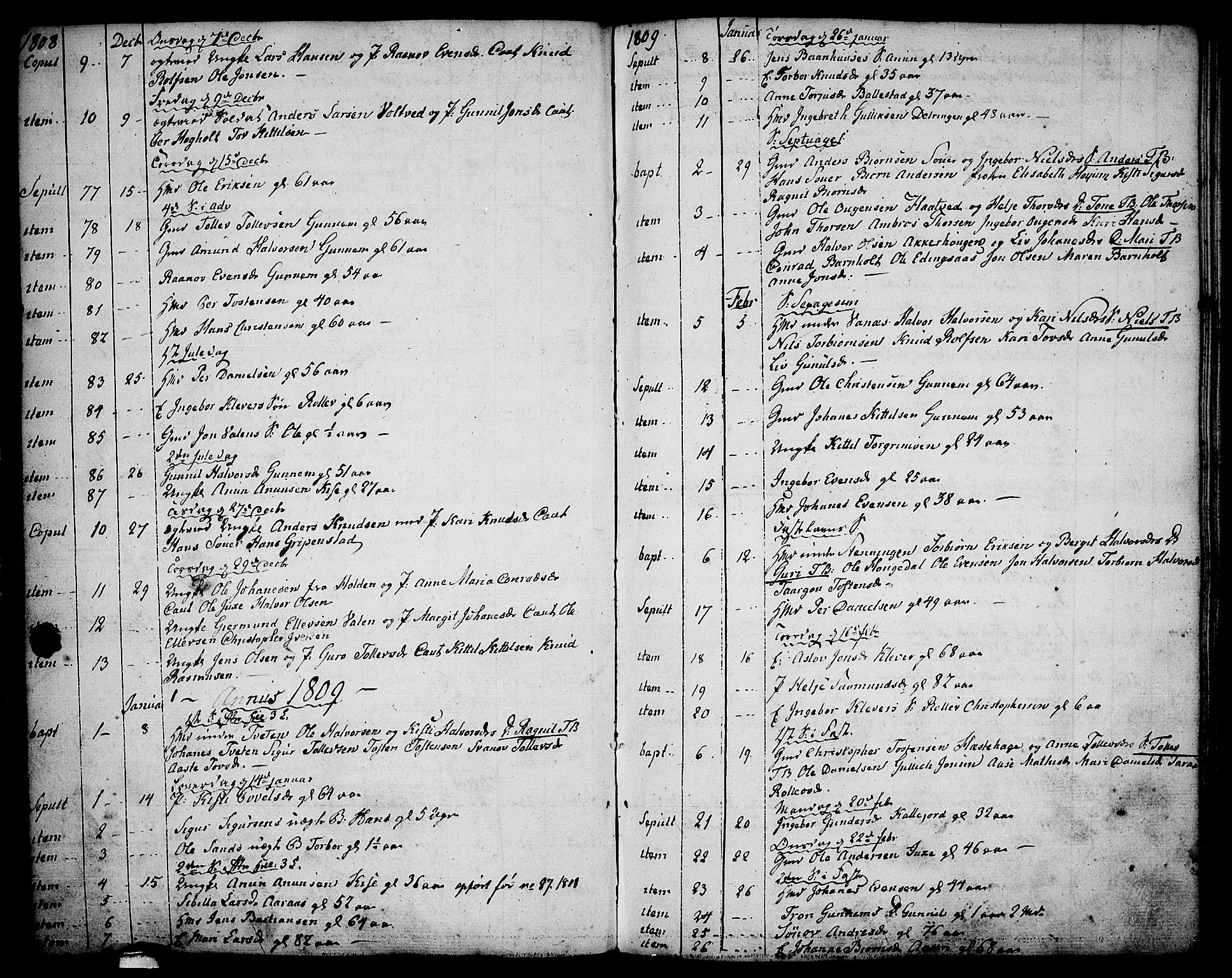 SAKO, Sauherad kirkebøker, F/Fa/L0004: Parish register (official) no. I 4, 1767-1814