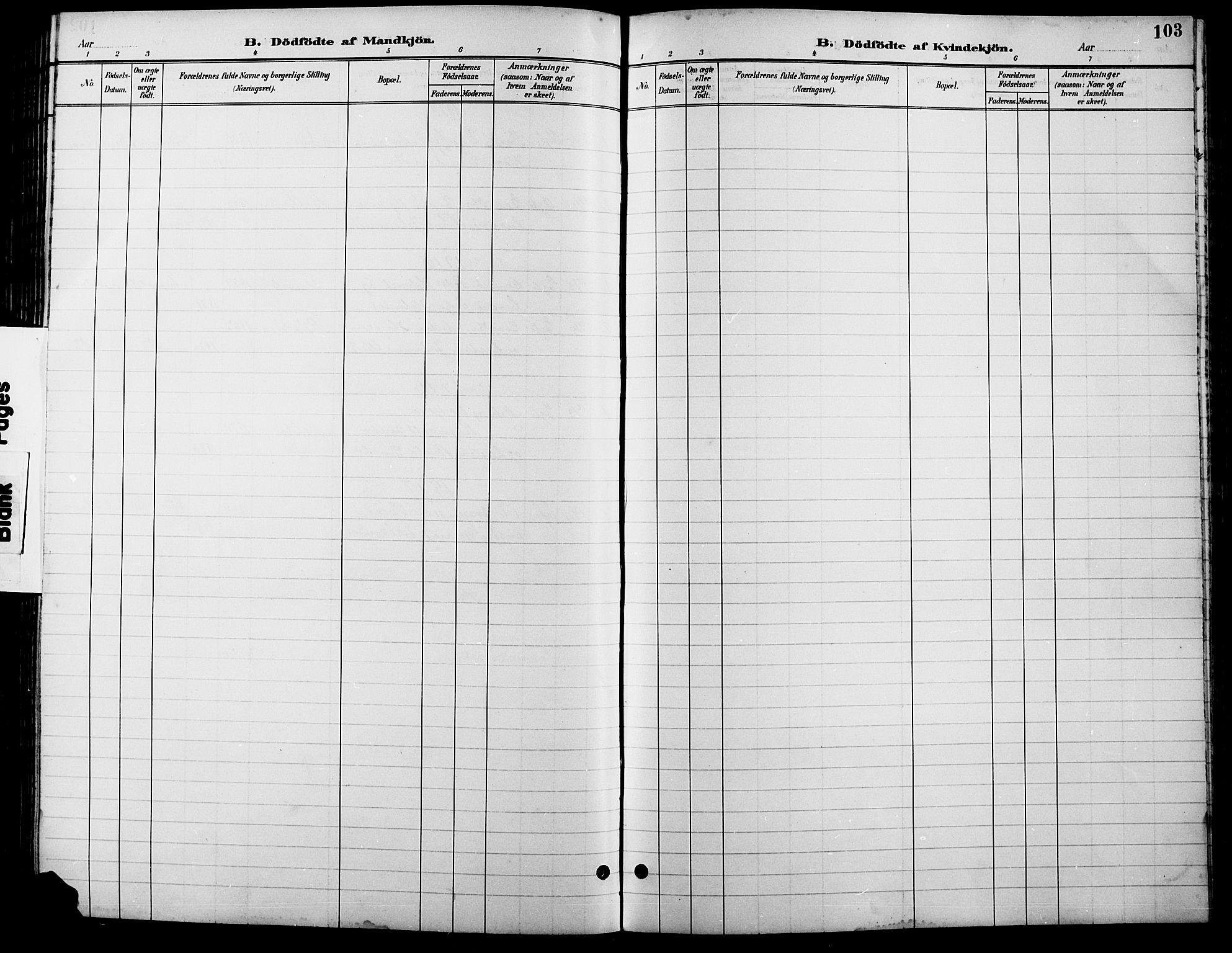 SAH, Lesja prestekontor, Parish register (copy) no. 7, 1895-1919, p. 103