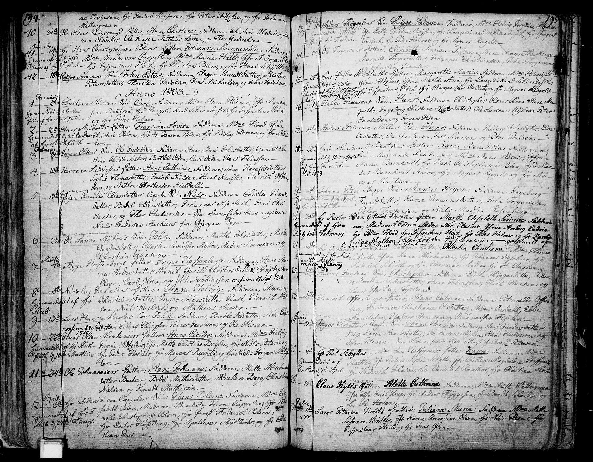 SAKO, Skien kirkebøker, F/Fa/L0004: Parish register (official) no. 4, 1792-1814, p. 194-195