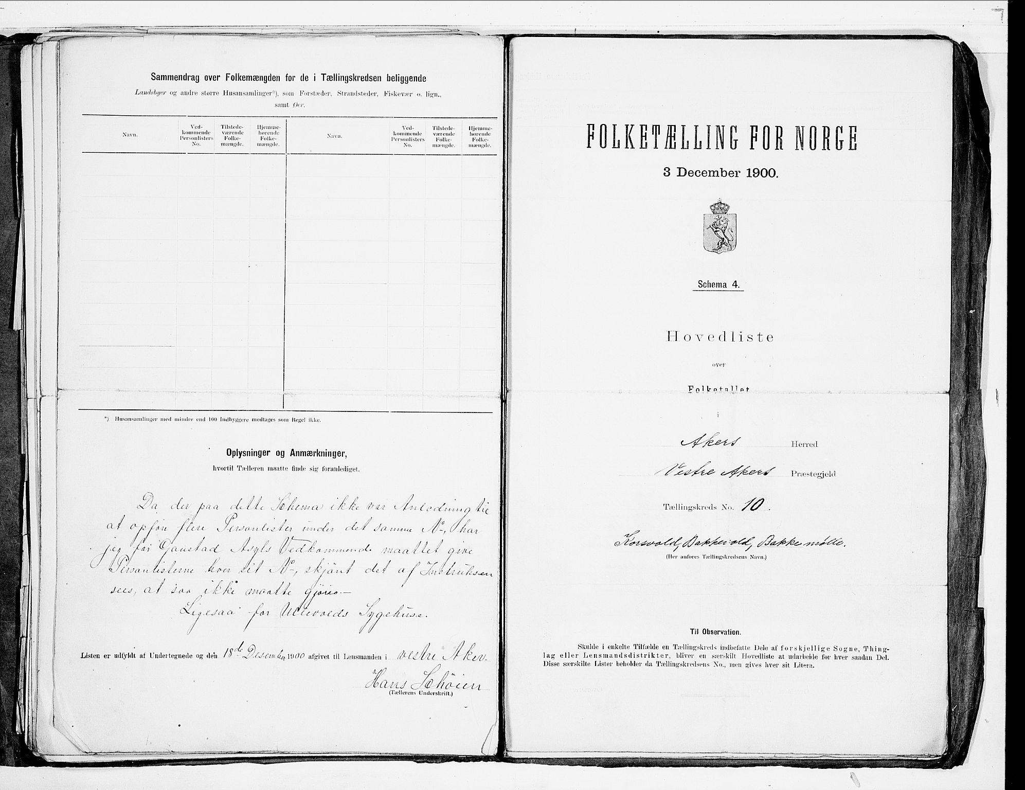 SAO, 1900 census for Aker, 1900, p. 64