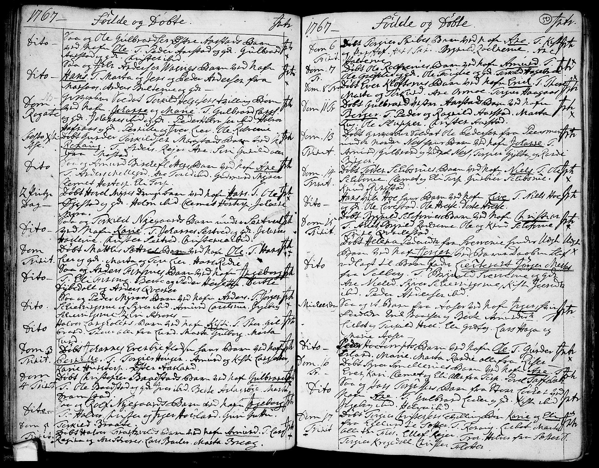 SAO, Trøgstad prestekontor Kirkebøker, F/Fa/L0004: Parish register (official) no. I 4, 1750-1784, p. 50