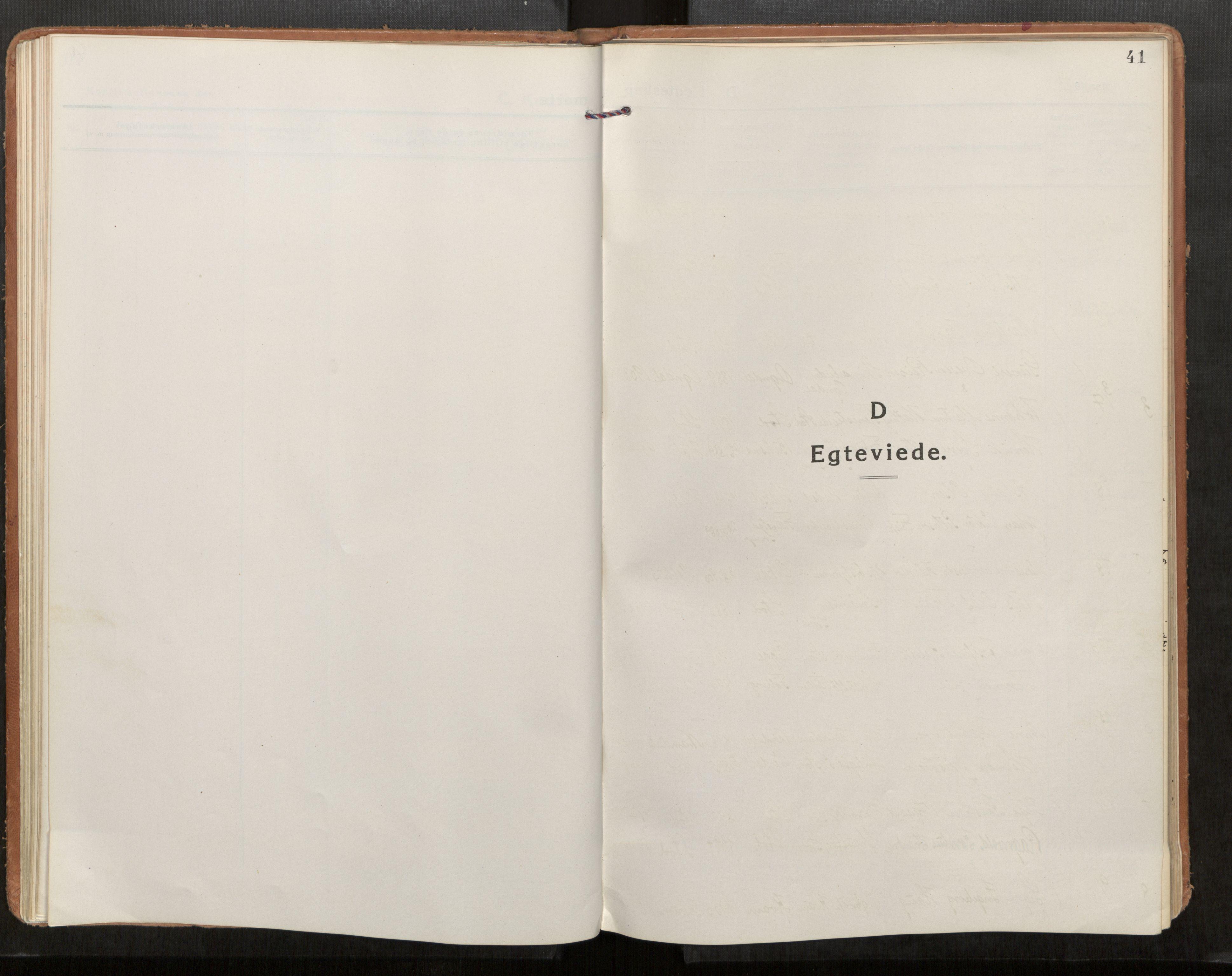 SAT, Stod sokneprestkontor, I/I1/I1a/L0005: Parish register (official) no. 5, 1923-1932, p. 41
