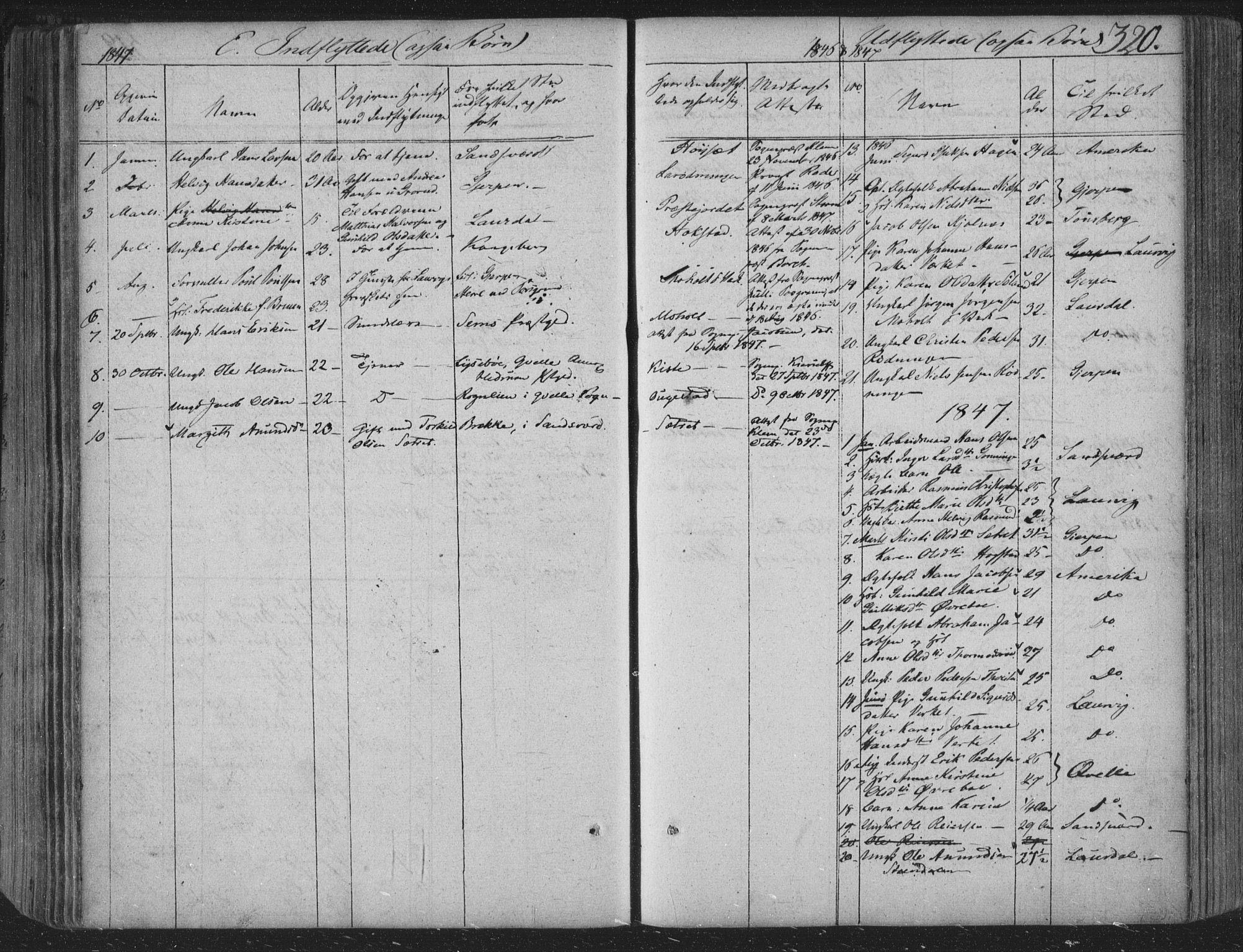SAKO, Siljan kirkebøker, F/Fa/L0001: Parish register (official) no. 1, 1831-1870, p. 320
