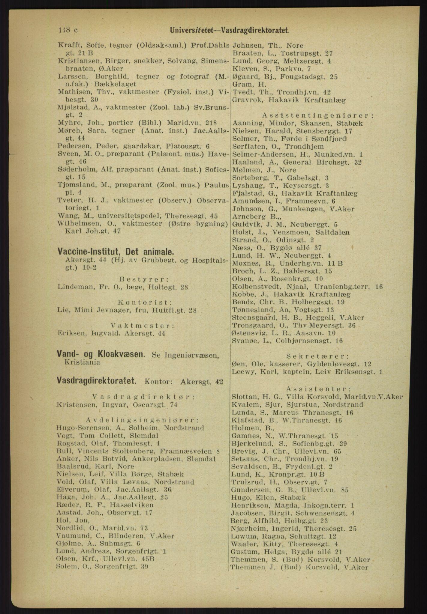 PUBL, Kristiania/Oslo adressebok, 1918, p. 127