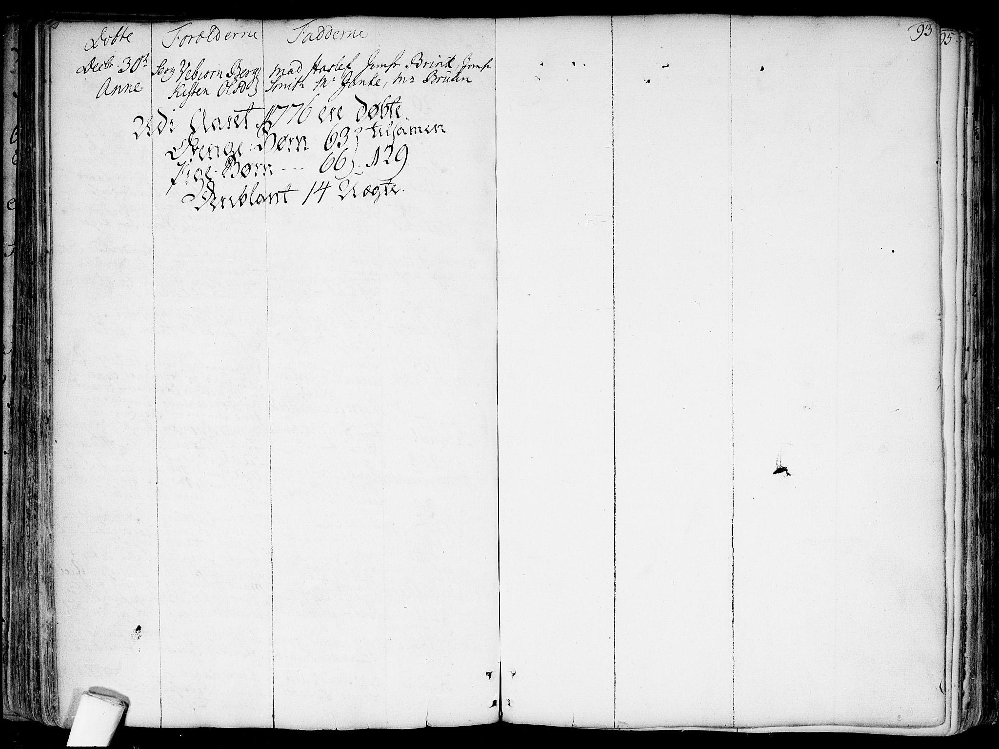 SAO, Garnisonsmenigheten Kirkebøker, F/Fa/L0002: Parish register (official) no. 2, 1757-1776, p. 93