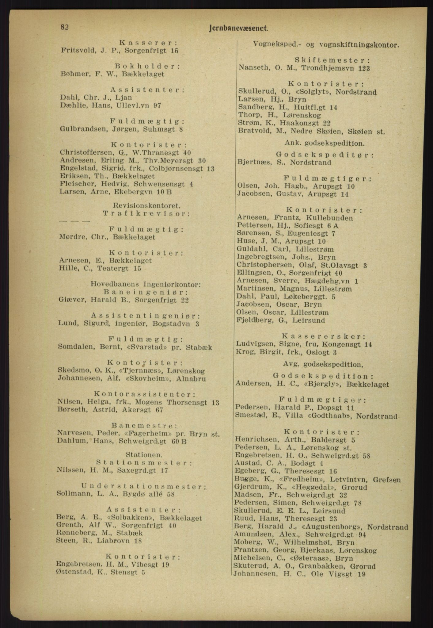 PUBL, Kristiania/Oslo adressebok, 1918, p. 89