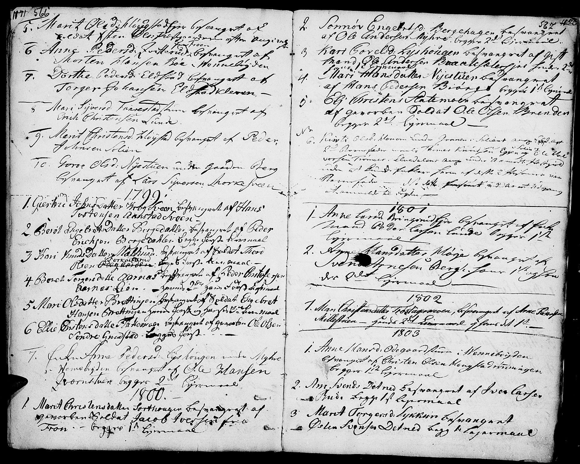 SAH, Ringebu prestekontor, Parish register (official) no. 3, 1781-1820, p. 566-567