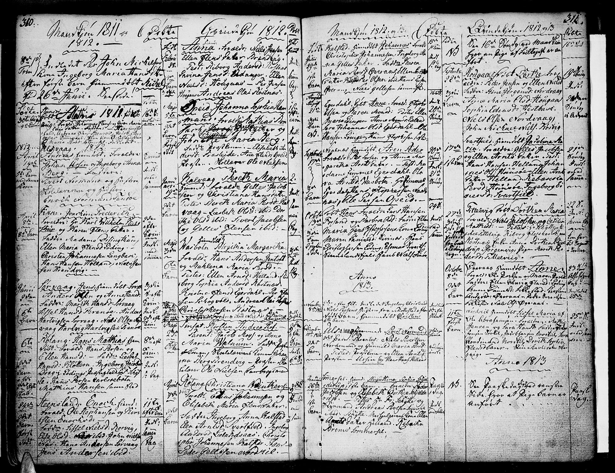 SAT, Ministerialprotokoller, klokkerbøker og fødselsregistre - Nordland, 859/L0841: Parish register (official) no. 859A01, 1766-1821, p. 310-311
