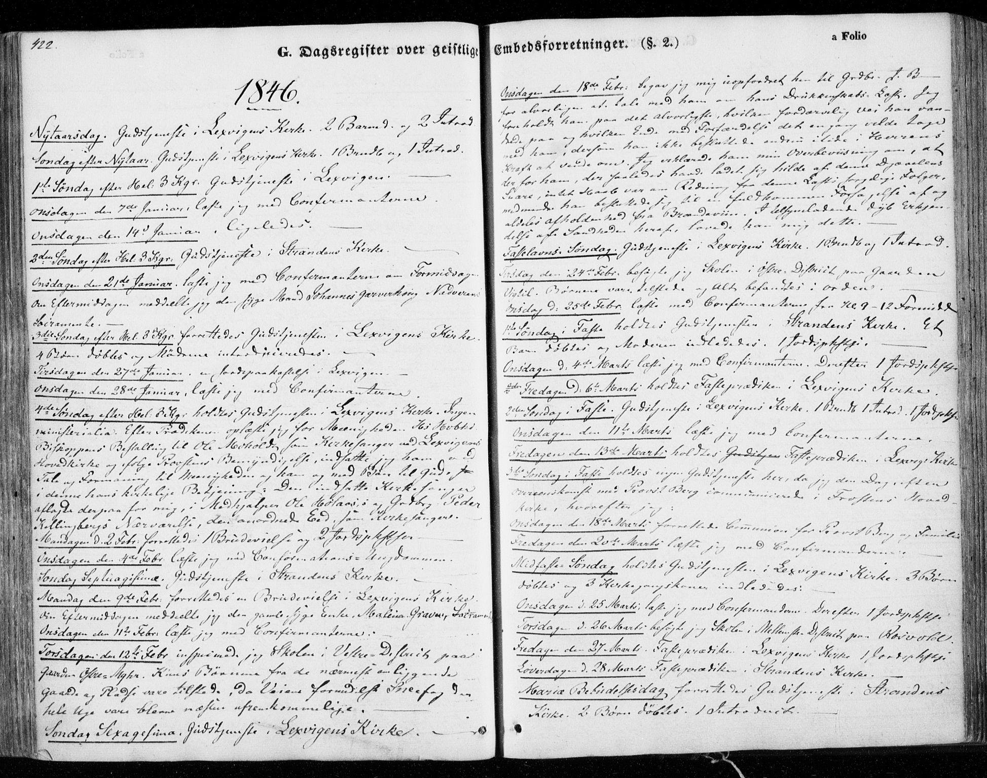 SAT, Ministerialprotokoller, klokkerbøker og fødselsregistre - Nord-Trøndelag, 701/L0007: Parish register (official) no. 701A07 /1, 1842-1854, p. 422