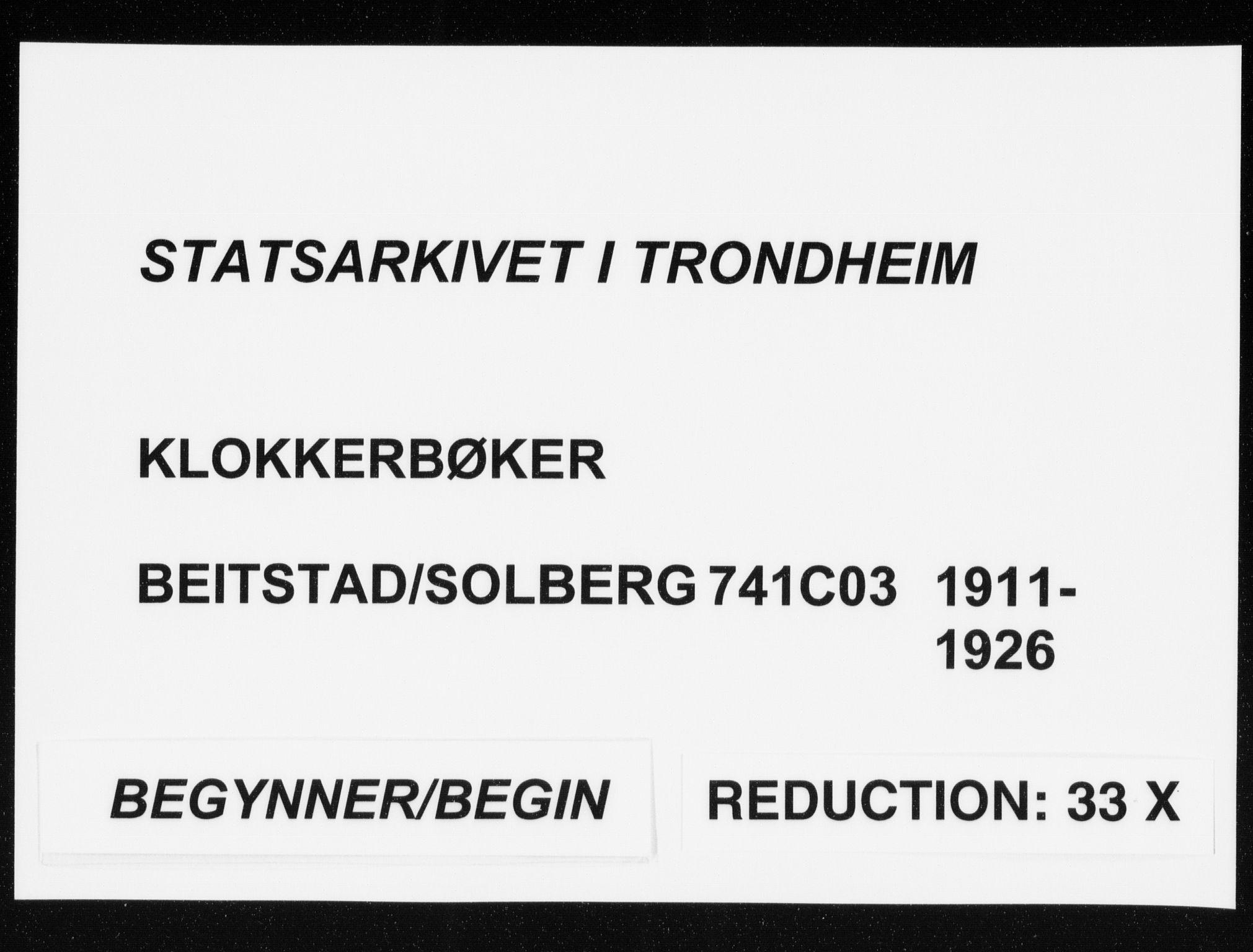 SAT, Ministerialprotokoller, klokkerbøker og fødselsregistre - Nord-Trøndelag, 741/L0402: Parish register (copy) no. 741C03, 1911-1926