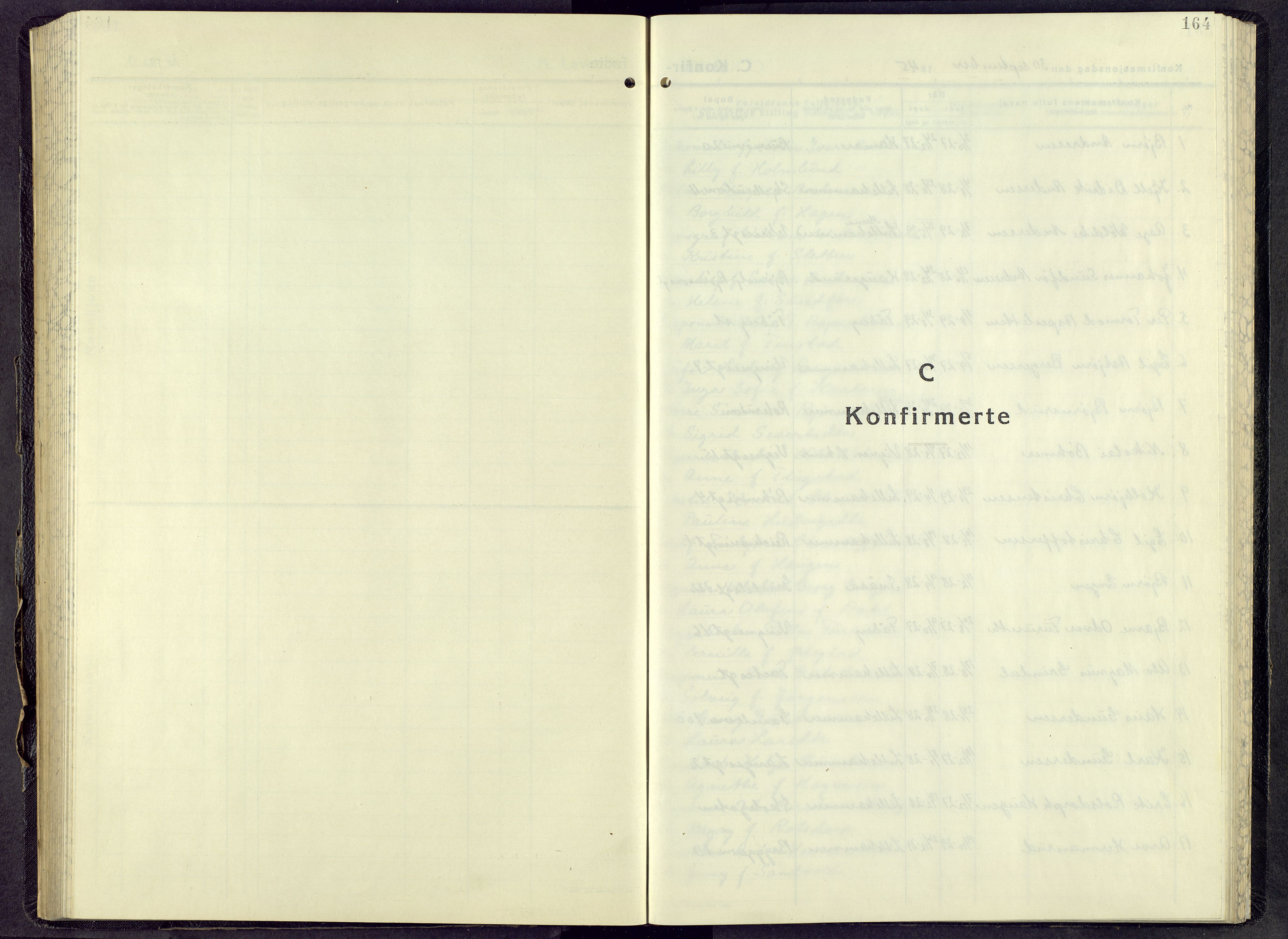 SAH, Lillehammer prestekontor, H/Ha/Hab/L0005: Parish register (copy) no. 5, 1943-1955, p. 164