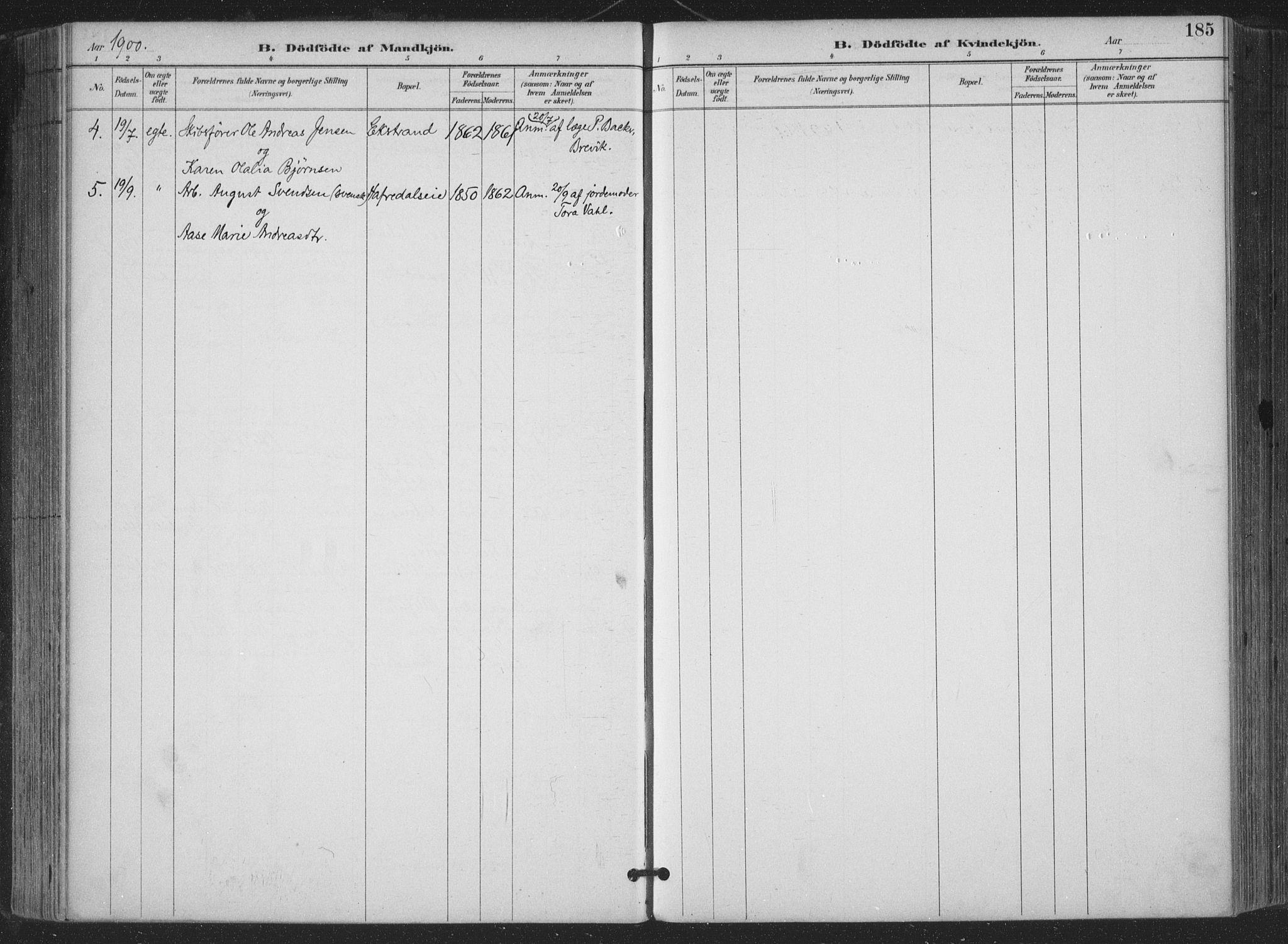 SAKO, Bamble kirkebøker, F/Fa/L0008: Parish register (official) no. I 8, 1888-1900, p. 185
