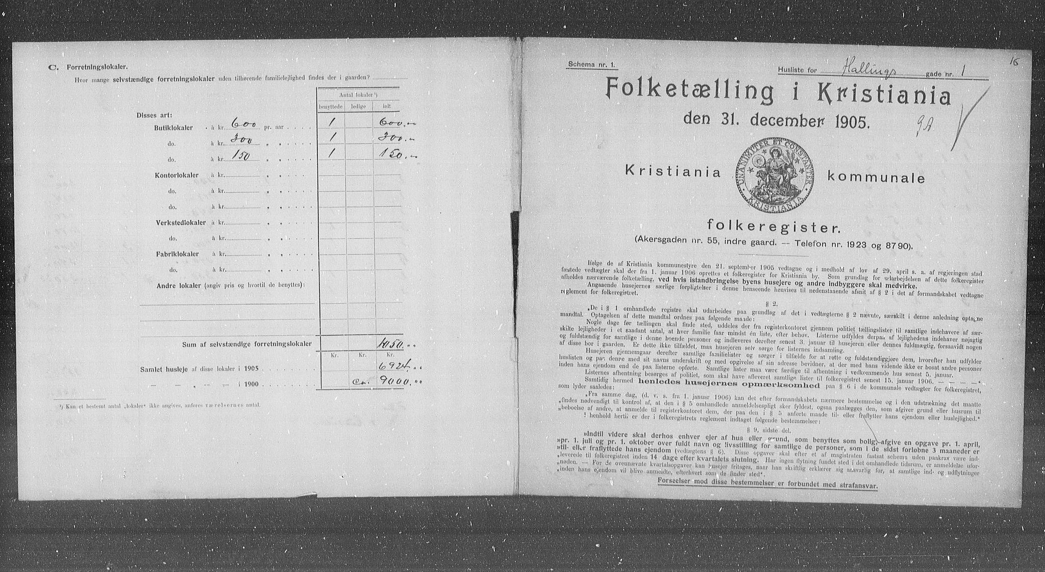 OBA, Municipal Census 1905 for Kristiania, 1905, p. 17526