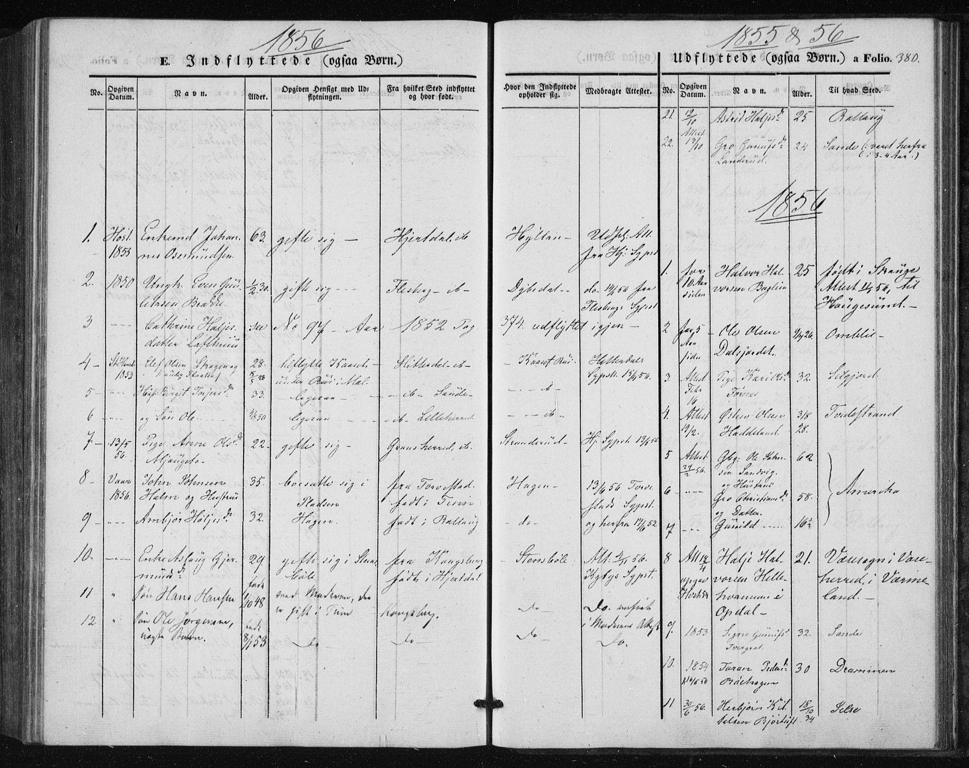 SAKO, Tinn kirkebøker, F/Fa/L0005: Parish register (official) no. I 5, 1844-1856, p. 380