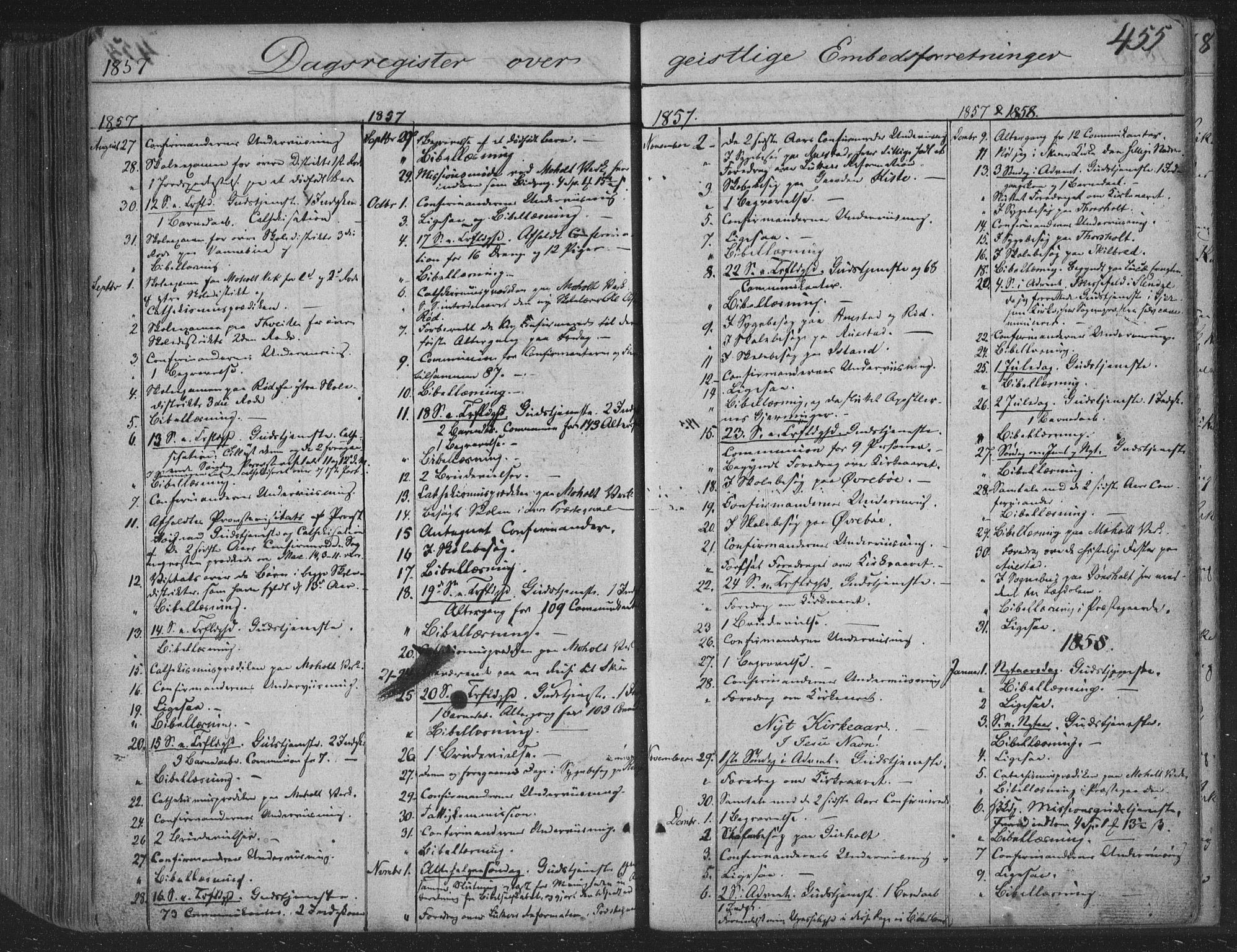 SAKO, Siljan kirkebøker, F/Fa/L0001: Parish register (official) no. 1, 1831-1870, p. 455