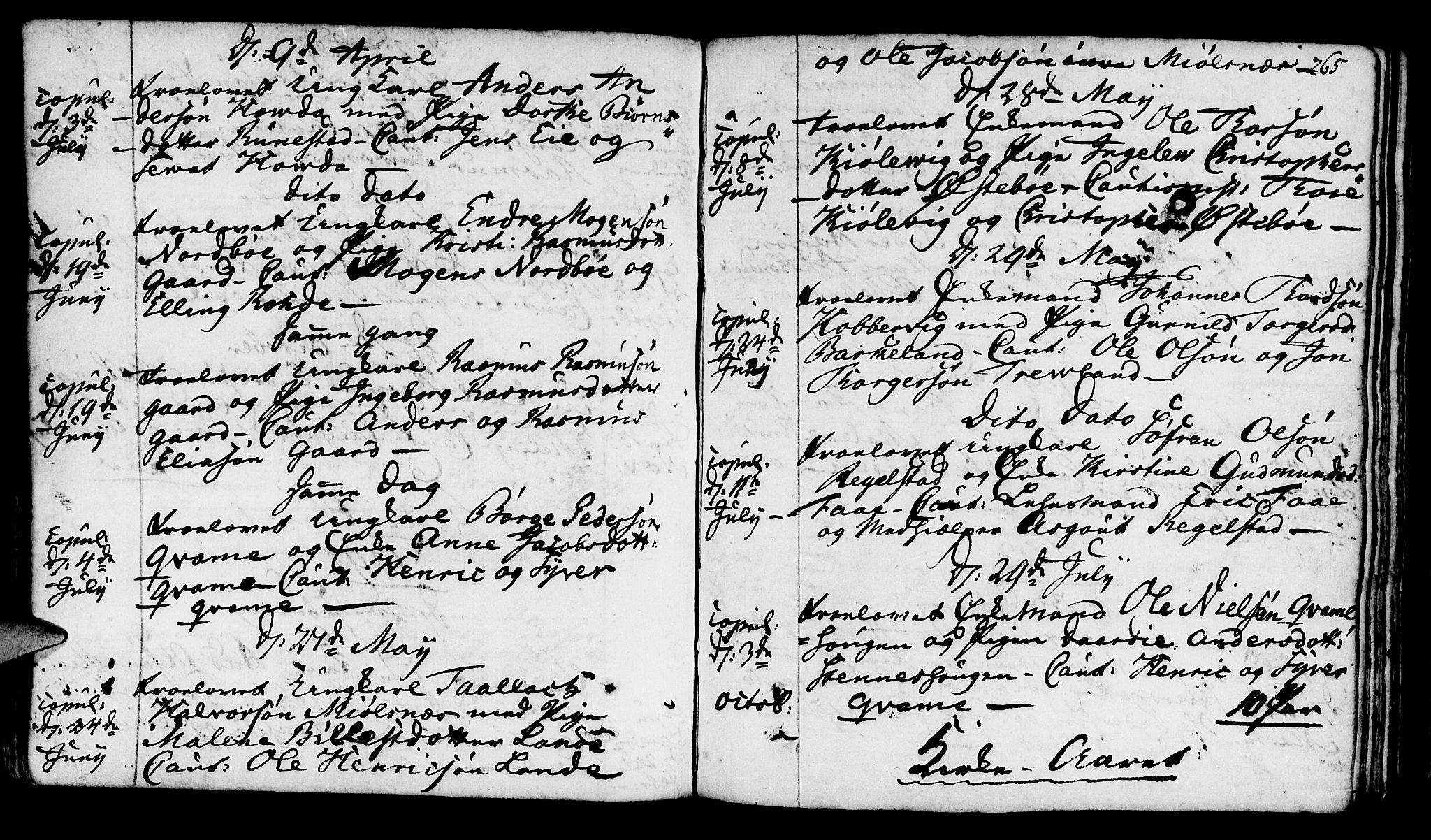 SAST, Finnøy sokneprestkontor, H/Ha/Haa/L0005: Parish register (official) no. A 5, 1773-1816, p. 265