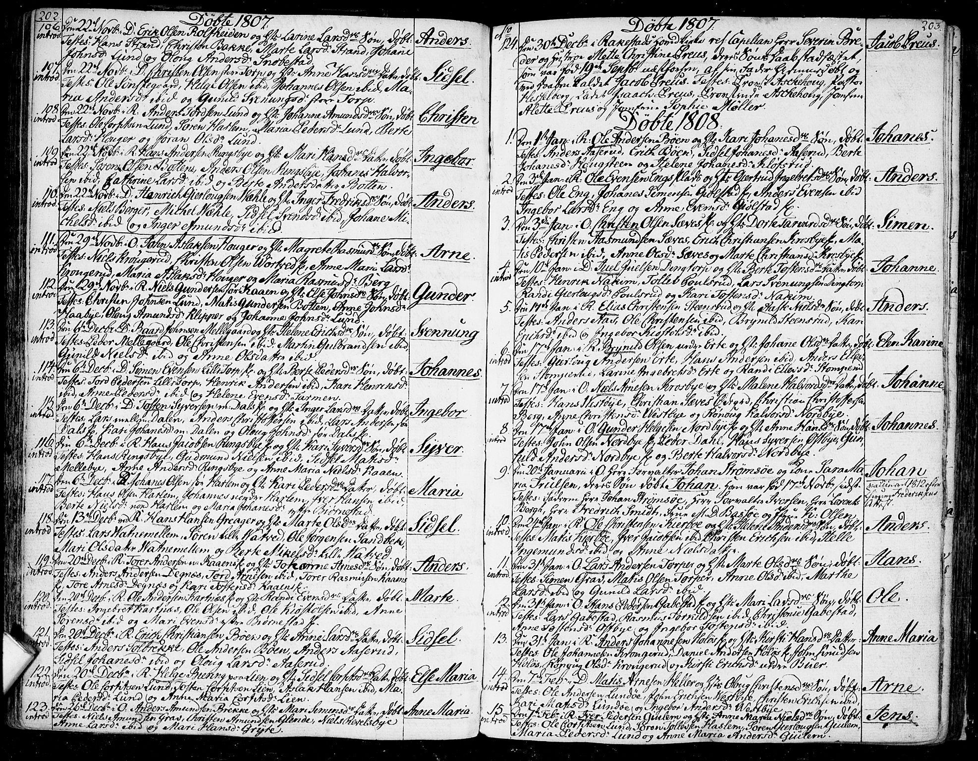 SAO, Rakkestad prestekontor Kirkebøker, F/Fa/L0005: Parish register (official) no. I 5, 1784-1814, p. 202-203