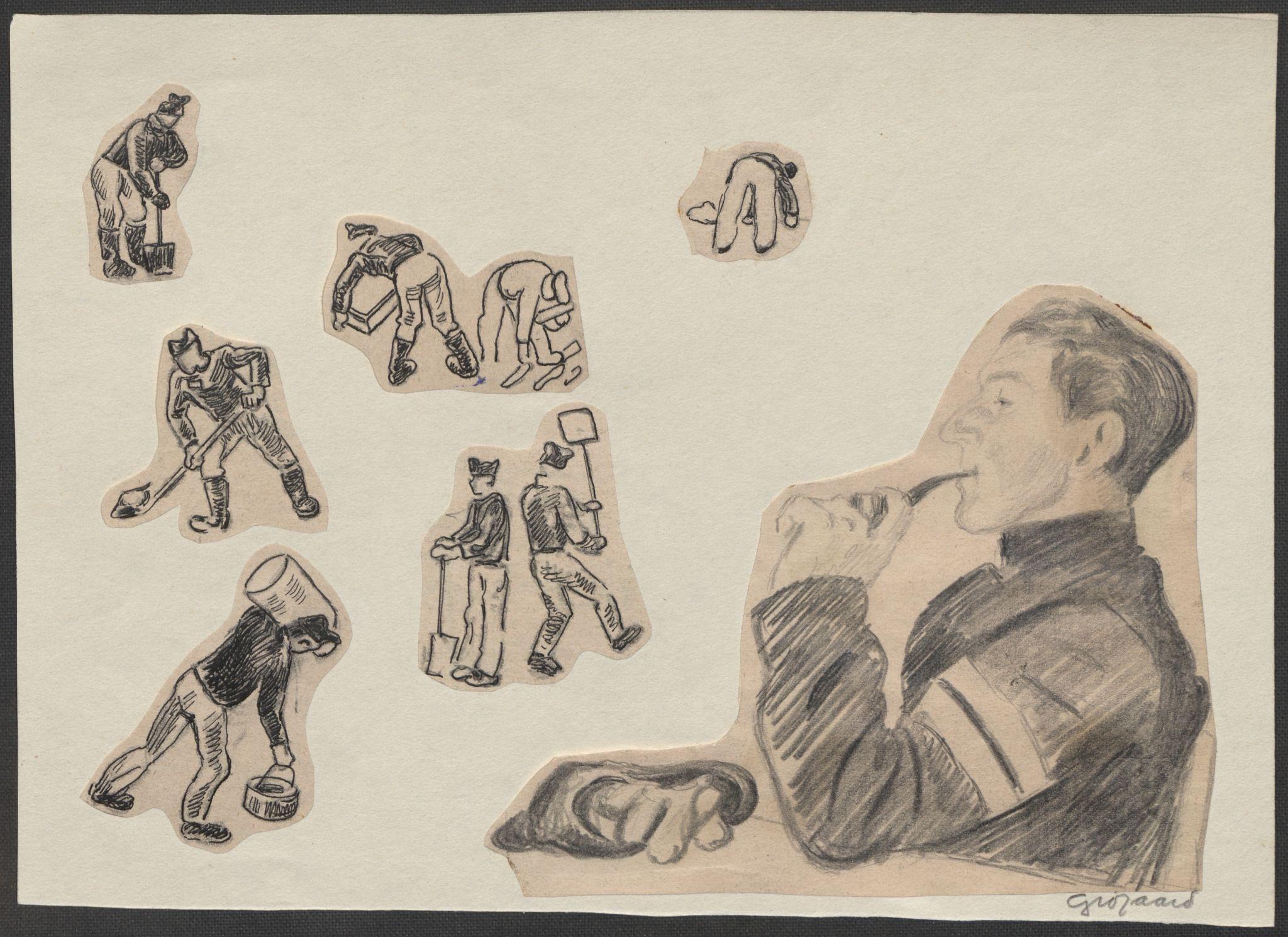 RA, Grøgaard, Joachim, F/L0002: Tegninger og tekster, 1942-1945, p. 28