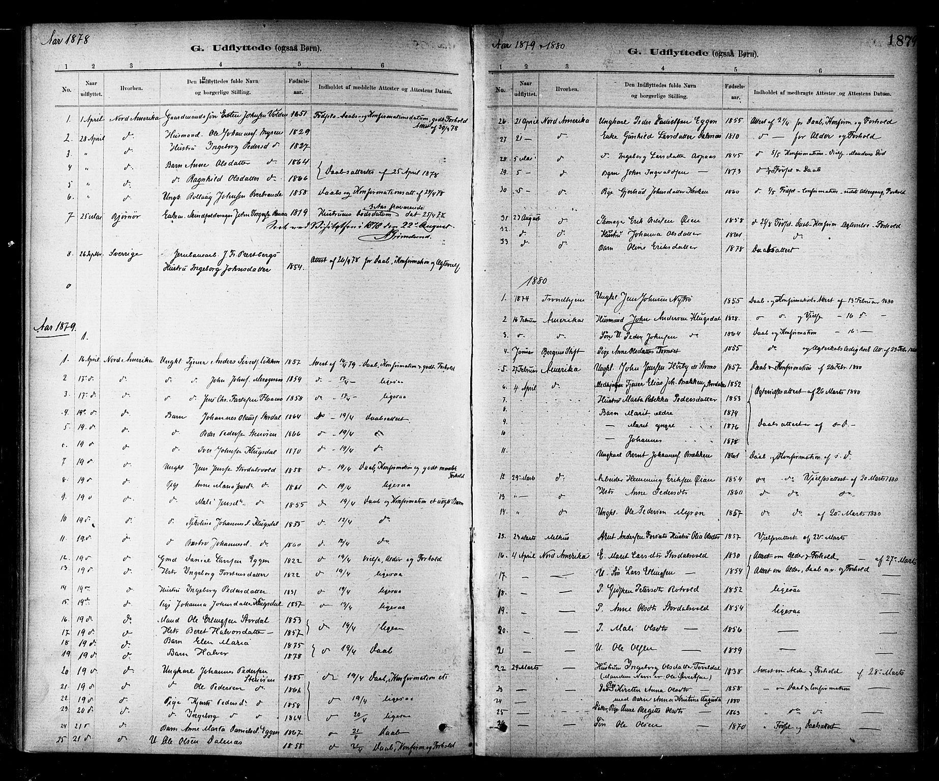 SAT, Ministerialprotokoller, klokkerbøker og fødselsregistre - Nord-Trøndelag, 706/L0047: Parish register (official) no. 706A03, 1878-1892, p. 187
