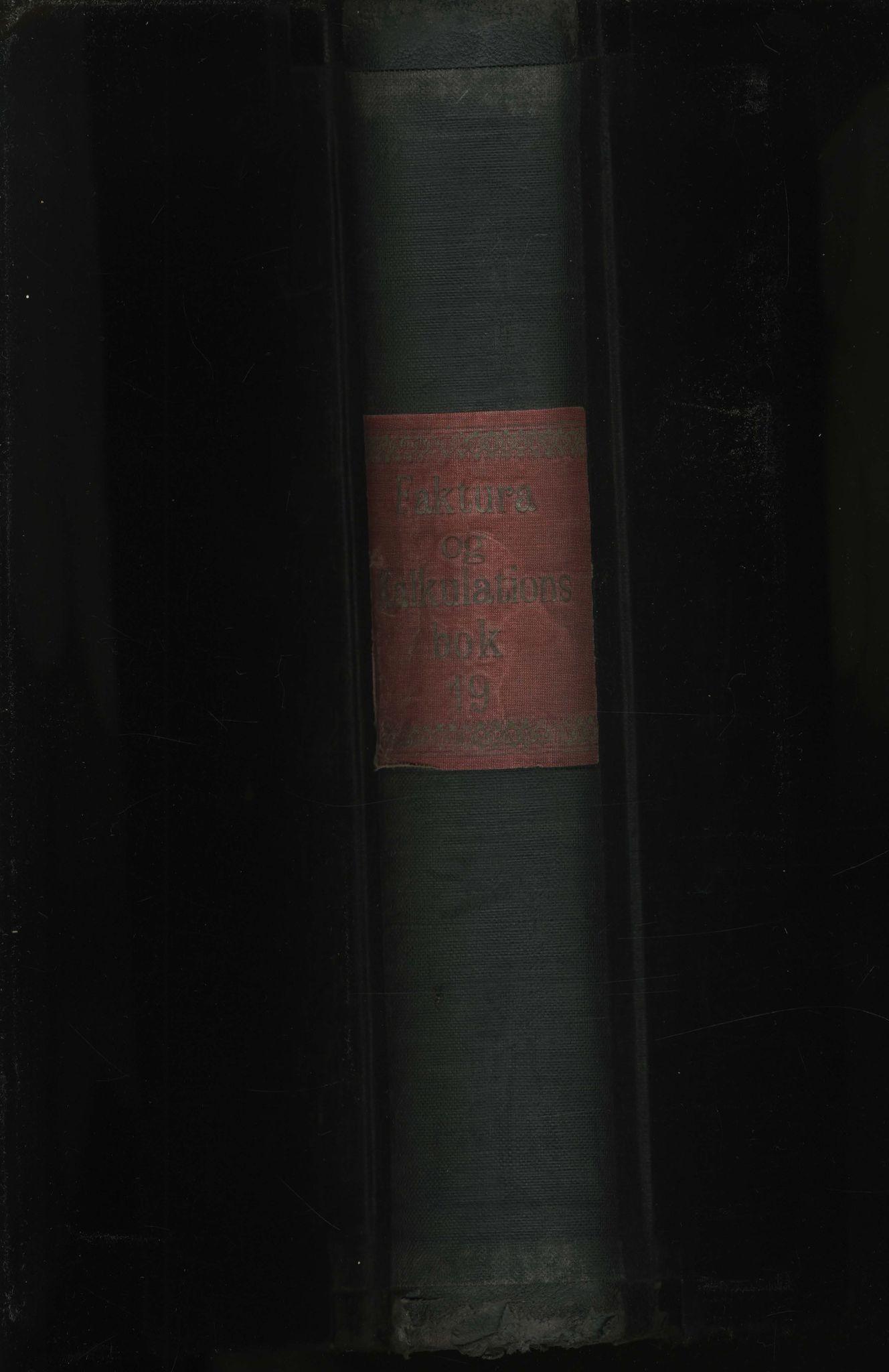 VAMU, Brodtkorb handel A/S, R/Re/L0004: Faktura og kalkulationsbok 19, 1925