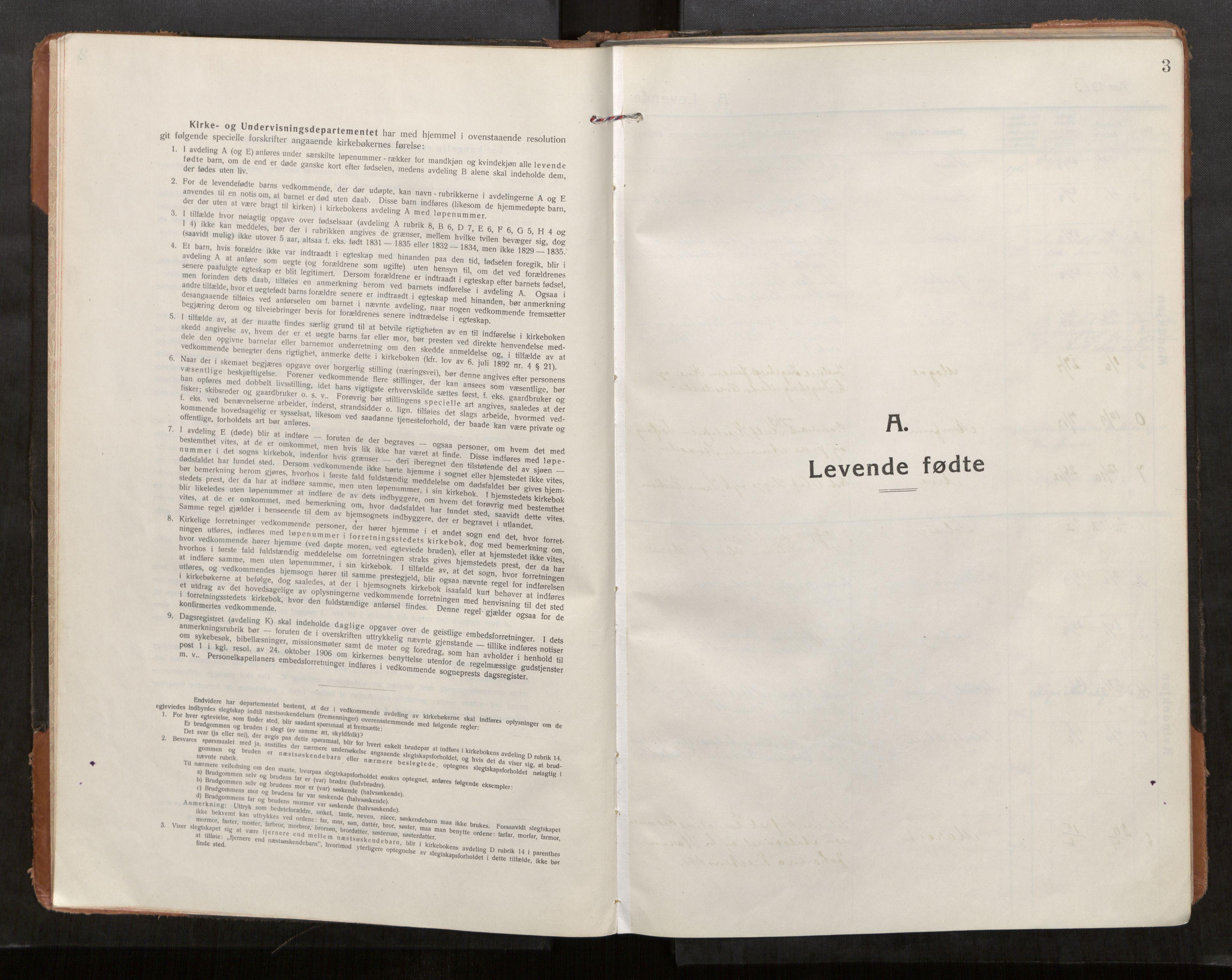 SAT, Stod sokneprestkontor, I/I1/I1a/L0004: Parish register (official) no. 4, 1913-1933, p. 3