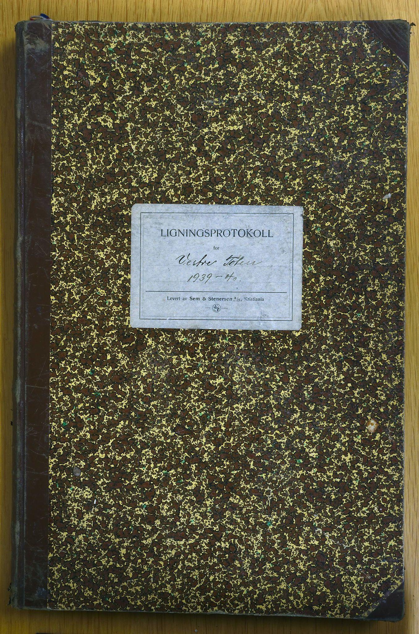KVT, Vestre Toten municipality archive: Tax assessment protocol 1939-1940, 1939-1940