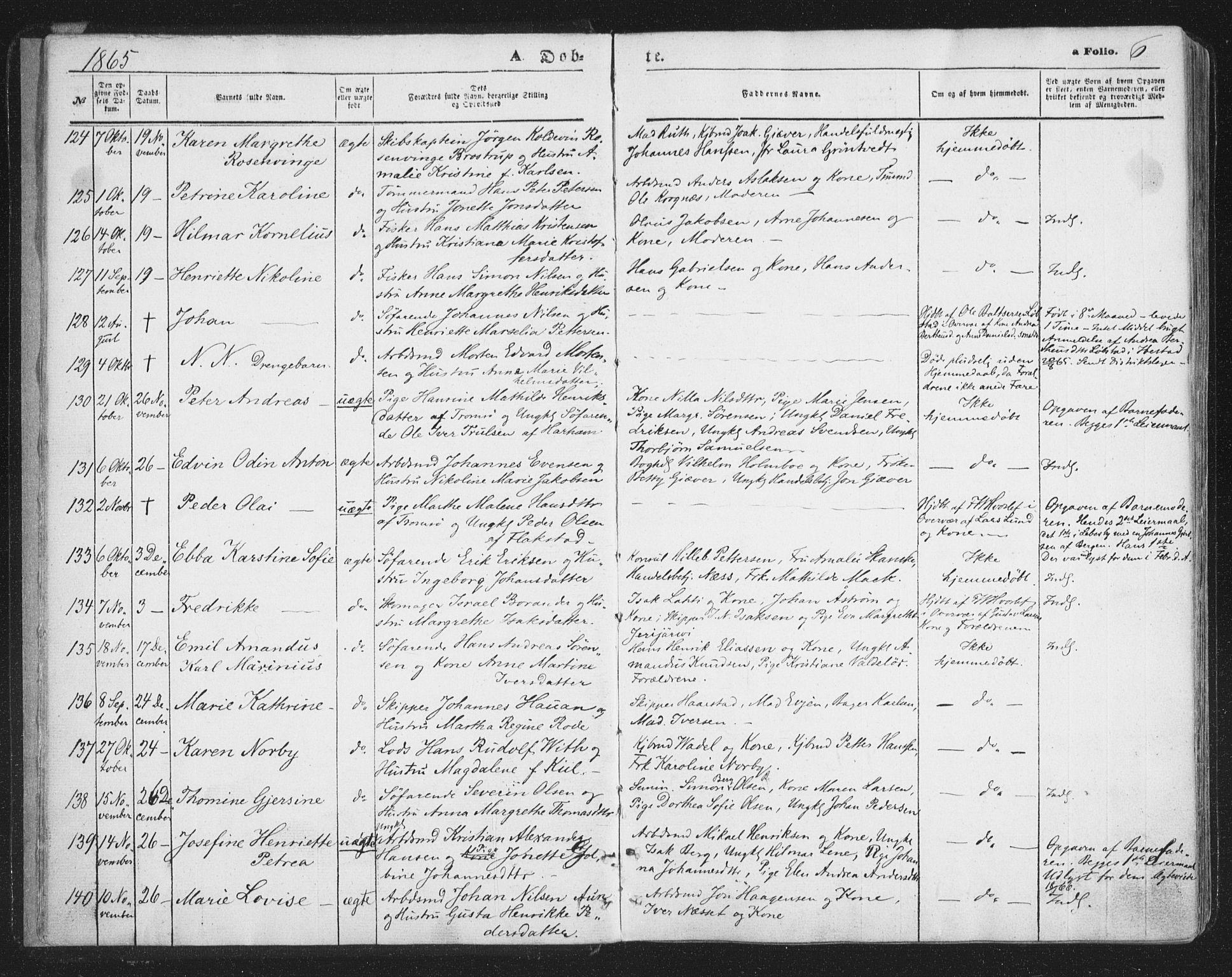 SATØ, Tromsø sokneprestkontor/stiftsprosti/domprosti, G/Ga/L0012kirke: Parish register (official) no. 12, 1865-1871, p. 6
