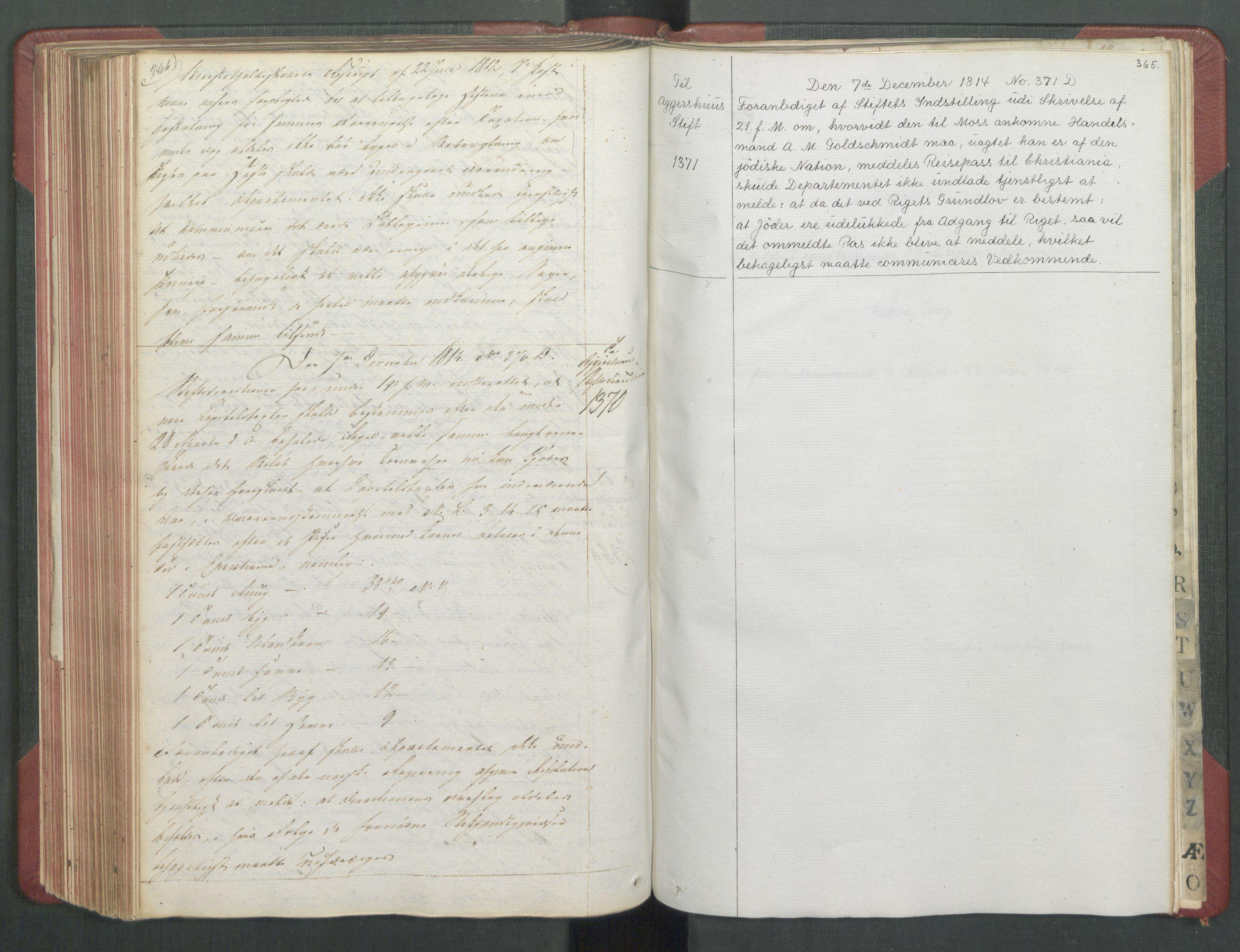 RA, Departementene i 1814, Fb/L0028: Kopibok 1-1371, 1814, p. 364-365
