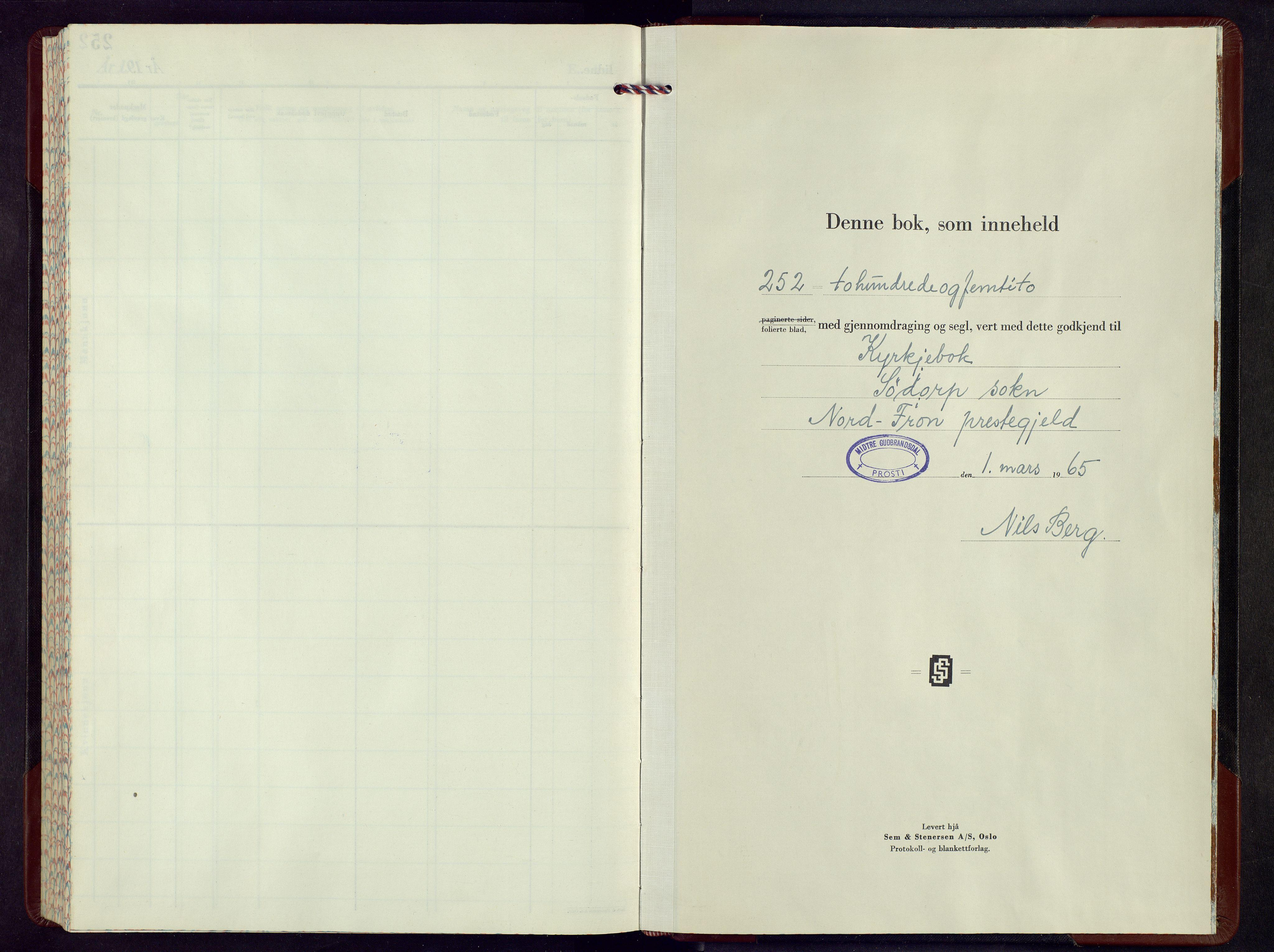 SAH, Nord-Fron prestekontor, Parish register (copy) no. 13, 1965-1975