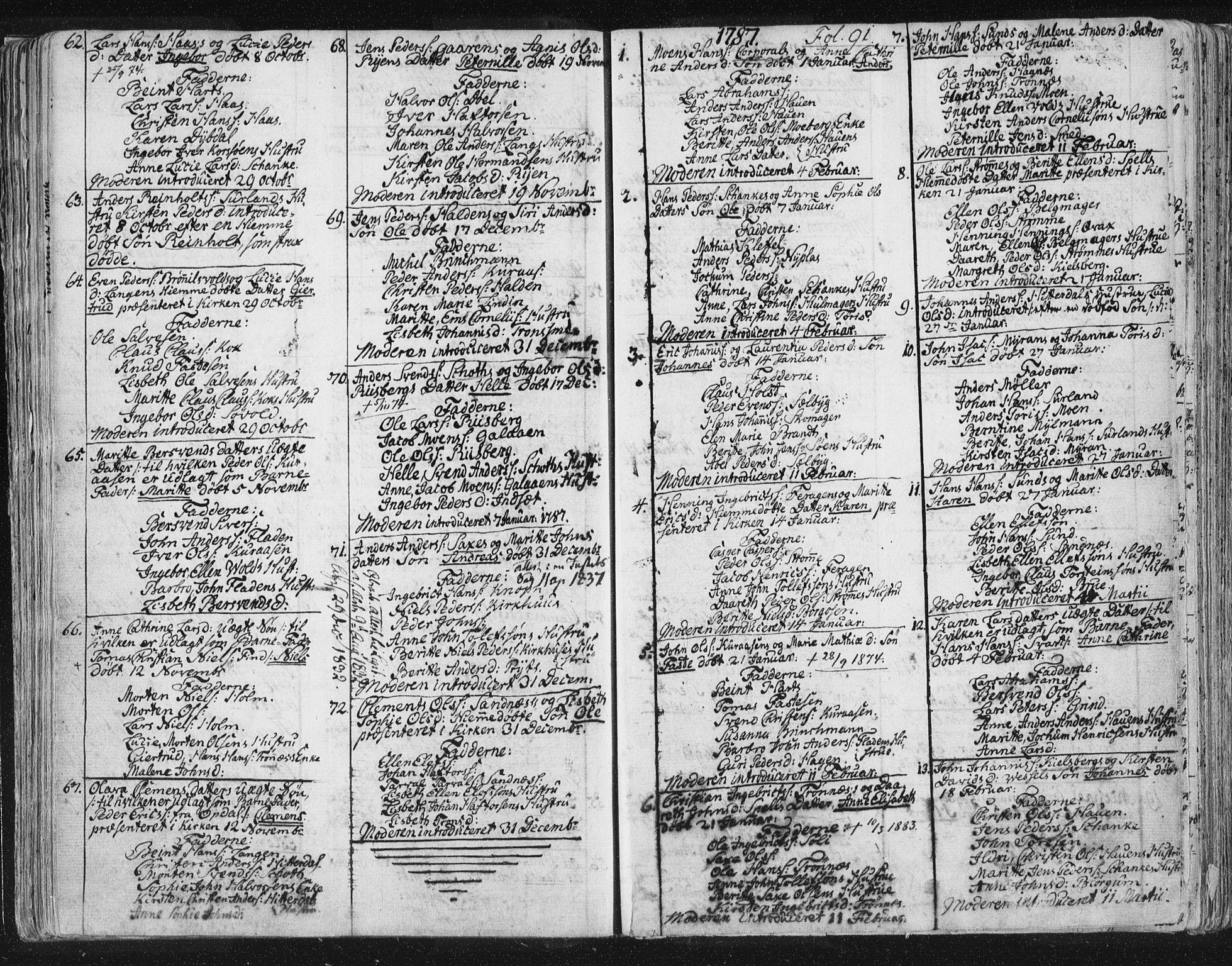 SAT, Ministerialprotokoller, klokkerbøker og fødselsregistre - Sør-Trøndelag, 681/L0926: Parish register (official) no. 681A04, 1767-1797, p. 91