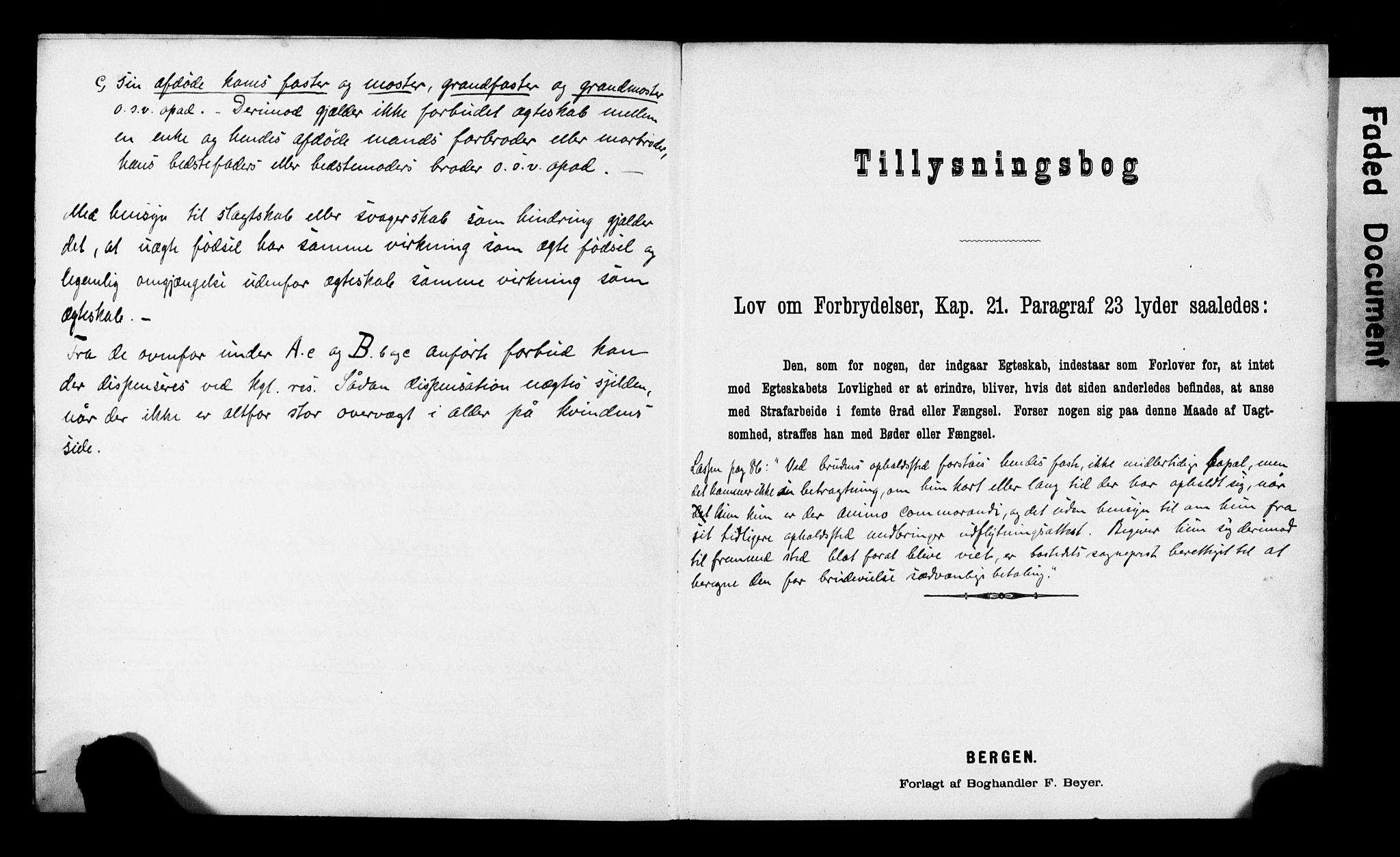 SATØ, Balsfjord sokneprestembete, Banns register no. 30, 1893-1897