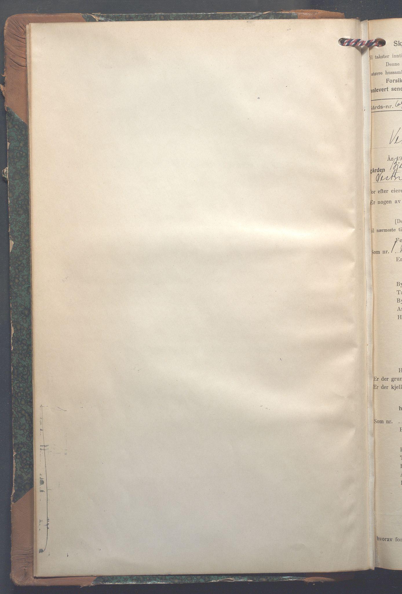 OBA, Lensmennene i Aker, F/Fa/L0022: Branntakstprotokoll, 1922-1949