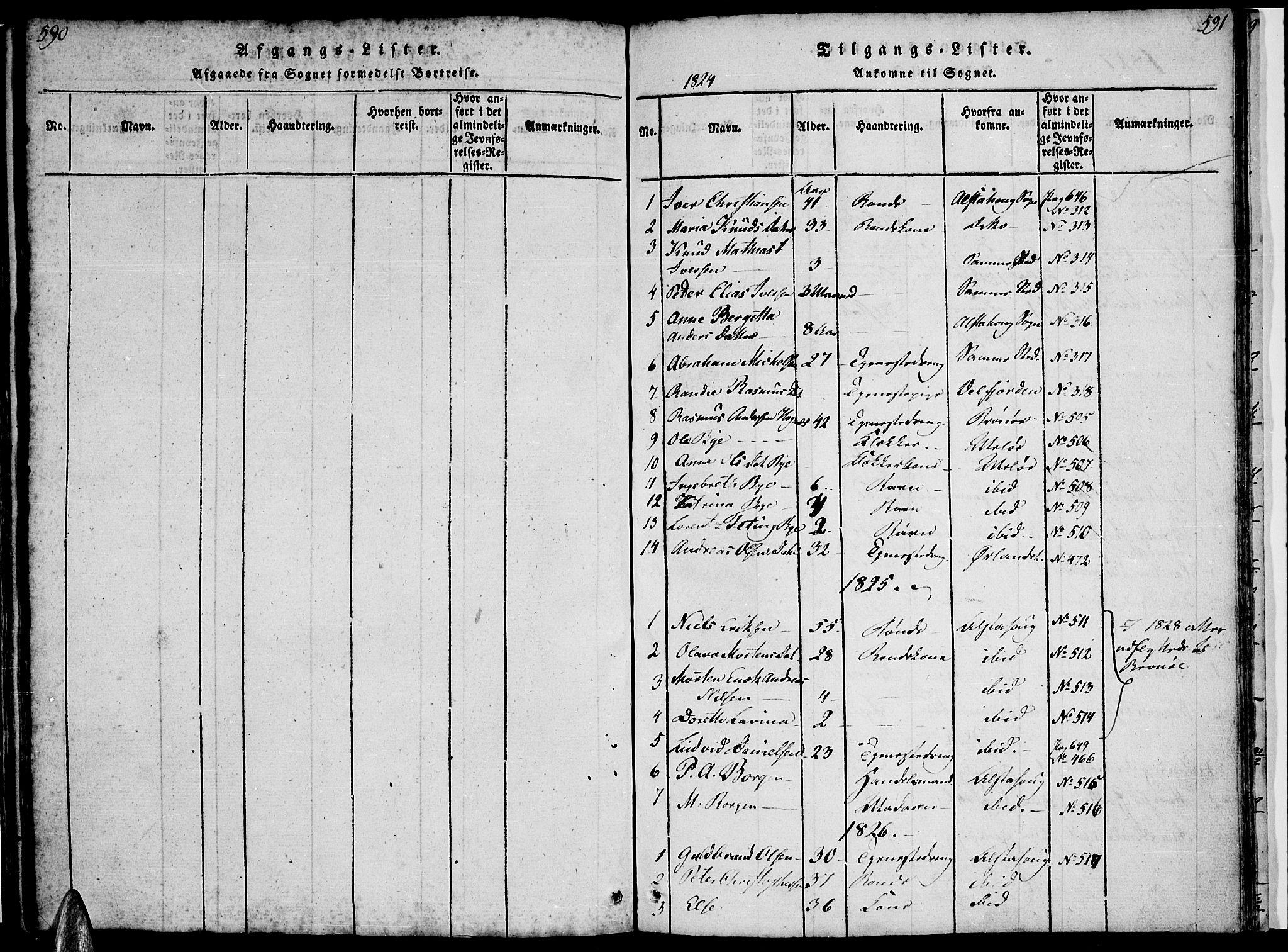 SAT, Ministerialprotokoller, klokkerbøker og fødselsregistre - Nordland, 816/L0239: Parish register (official) no. 816A05, 1820-1845, p. 590-591