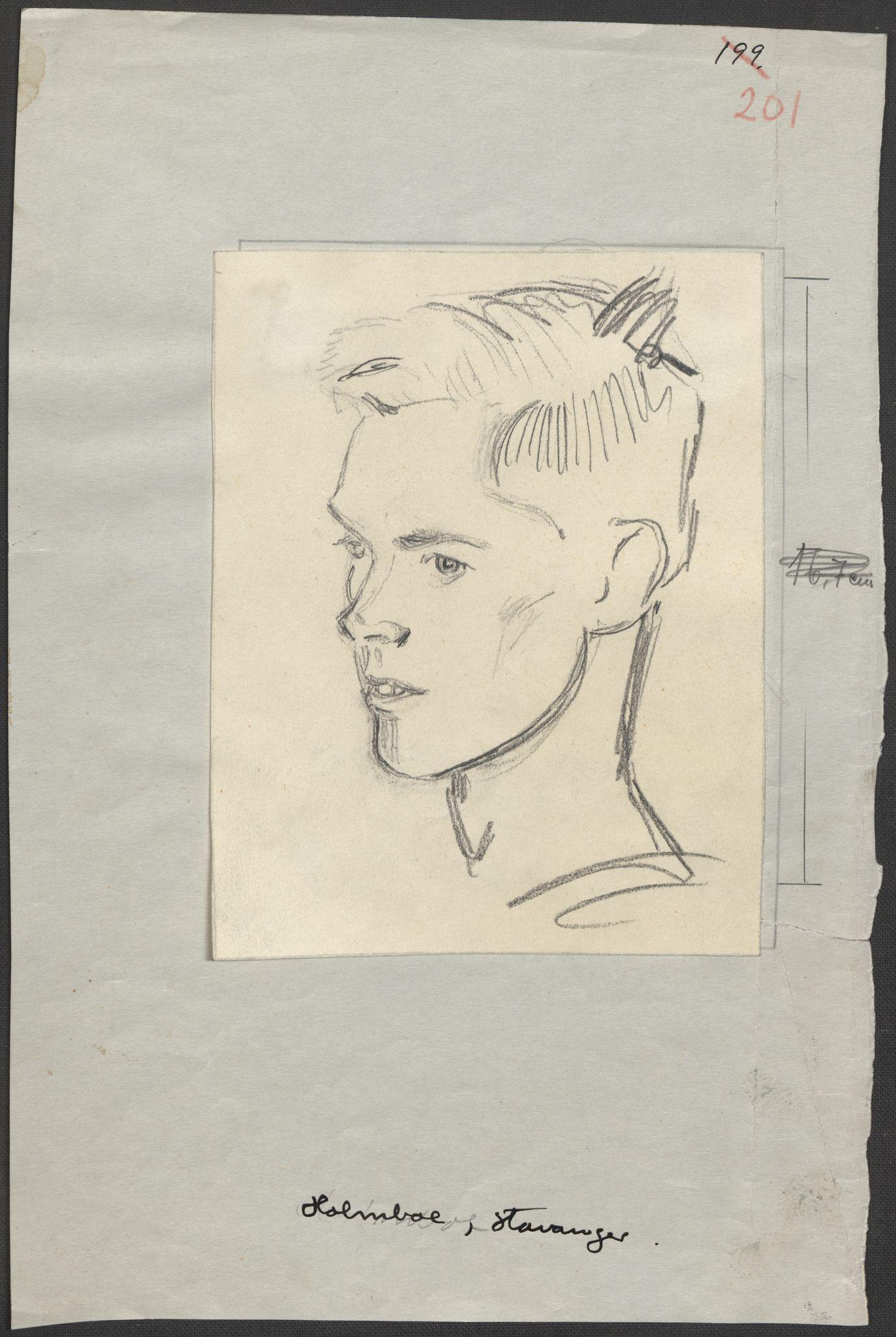 RA, Grøgaard, Joachim, F/L0002: Tegninger og tekster, 1942-1945, p. 95