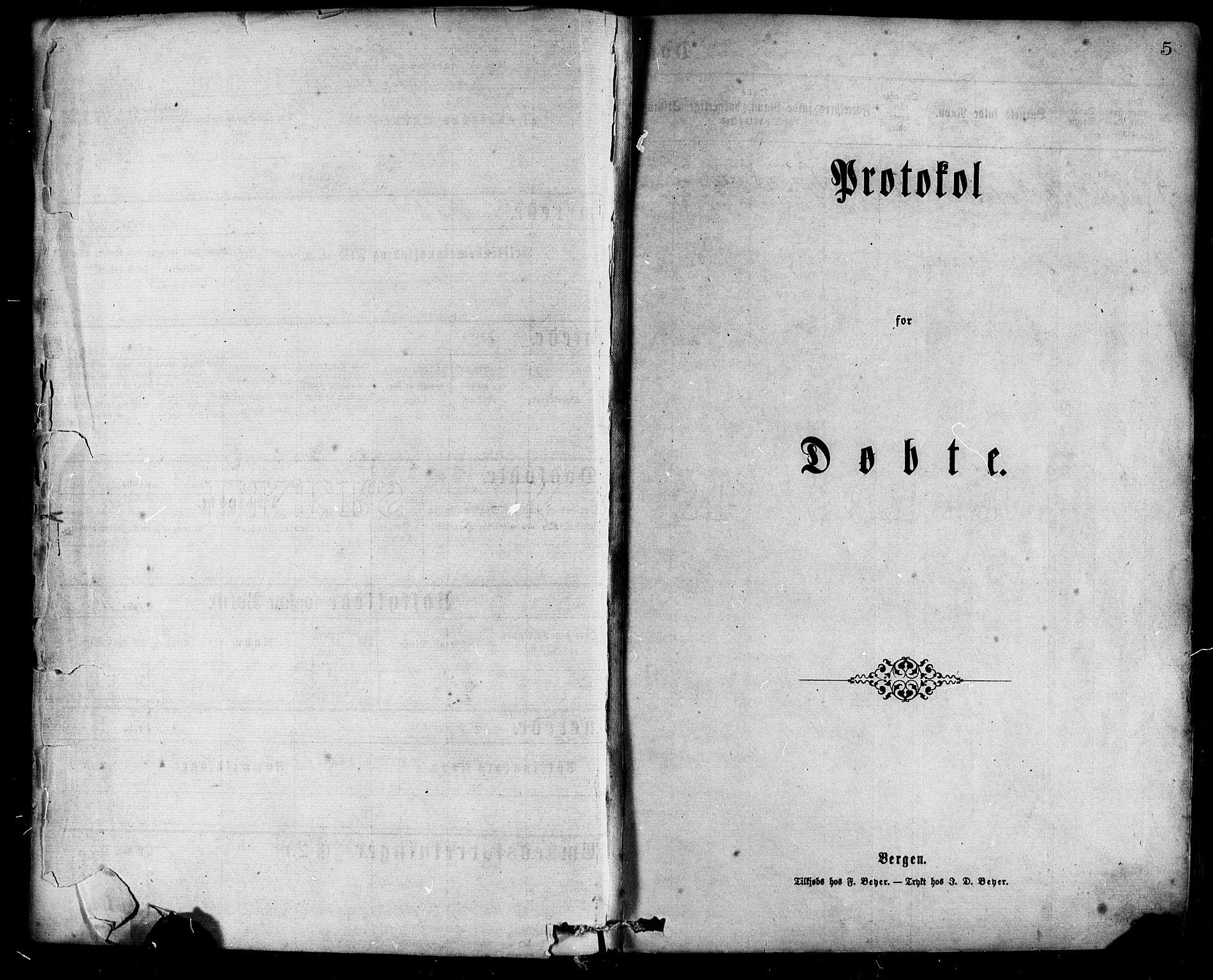 SAB, Hamre Sokneprestembete, H/Haa: Parish register (official) no. A 15, 1870-1881, p. 5