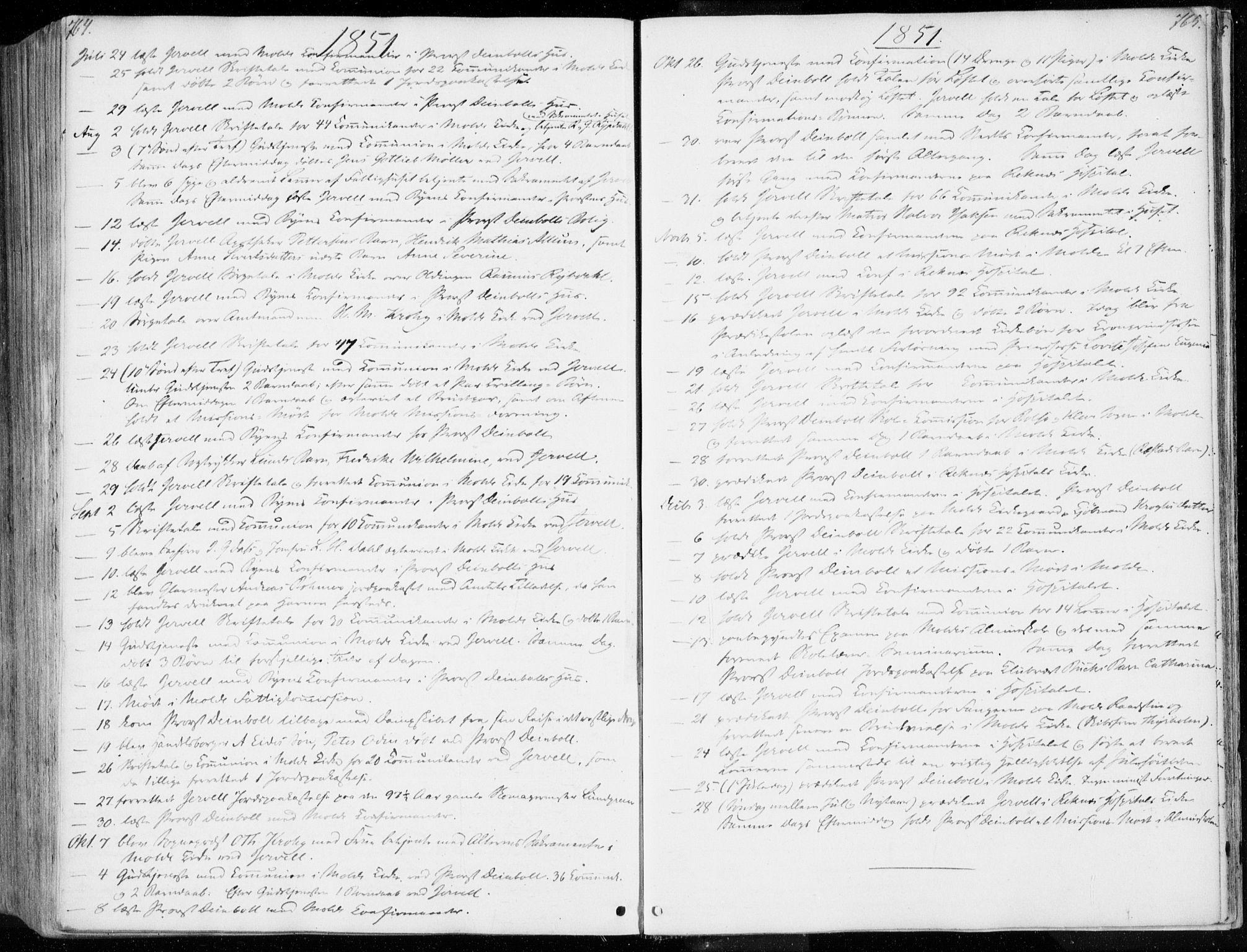 SAT, Ministerialprotokoller, klokkerbøker og fødselsregistre - Møre og Romsdal, 558/L0689: Parish register (official) no. 558A03, 1843-1872, p. 764-765