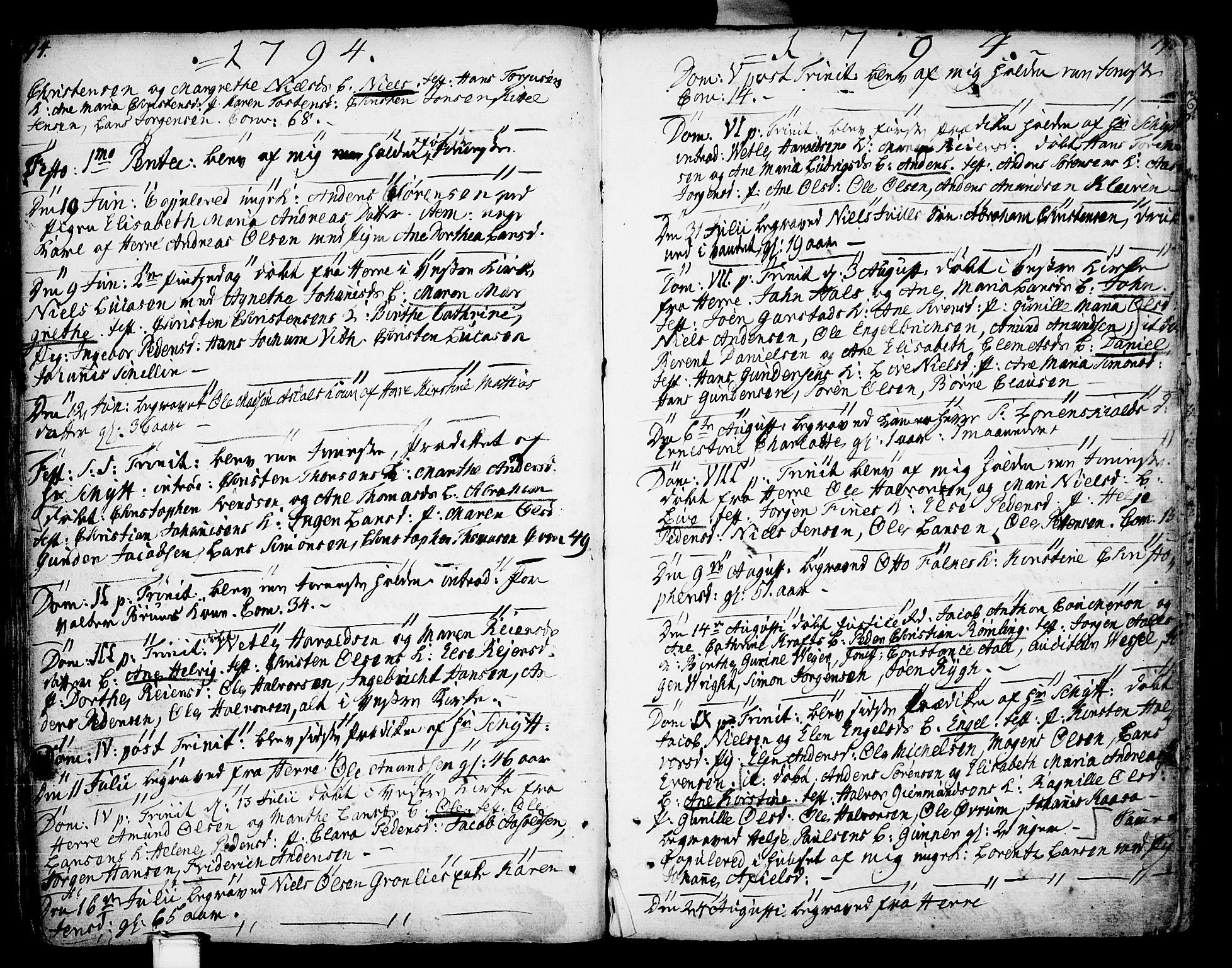 SAKO, Porsgrunn kirkebøker , F/Fa/L0002: Parish register (official) no. 2, 1764-1814, p. 194-195
