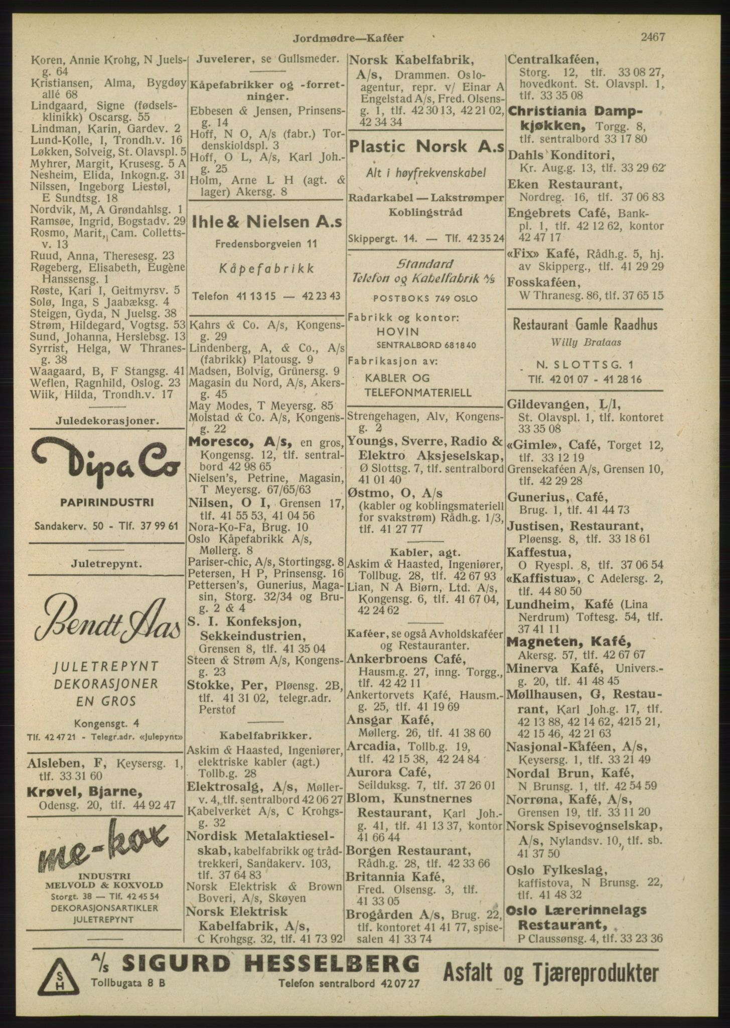 PUBL, Kristiania/Oslo adressebok, 1948, p. 2467