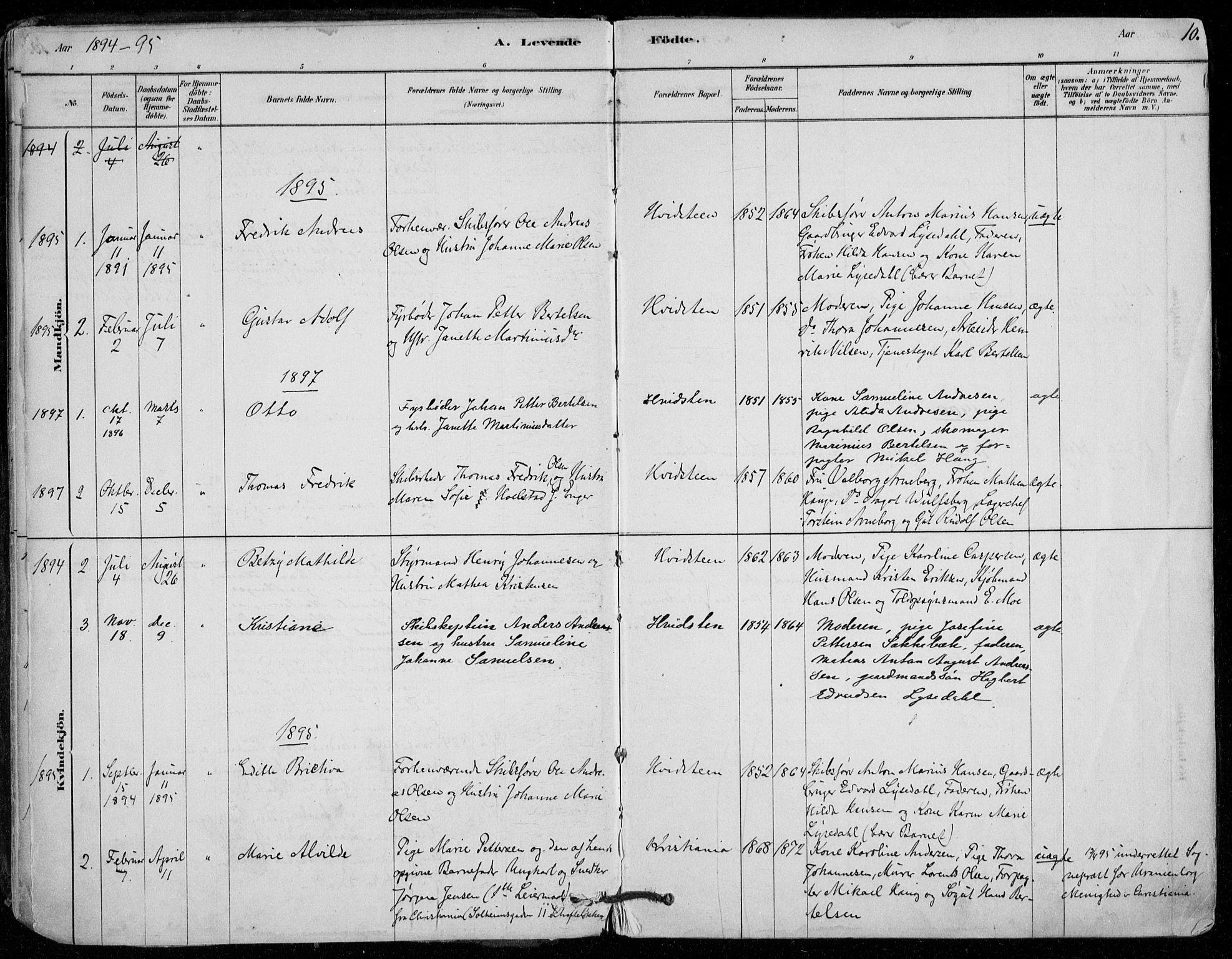 SAO, Vestby prestekontor Kirkebøker, F/Fd/L0001: Parish register (official) no. IV 1, 1878-1945, p. 10