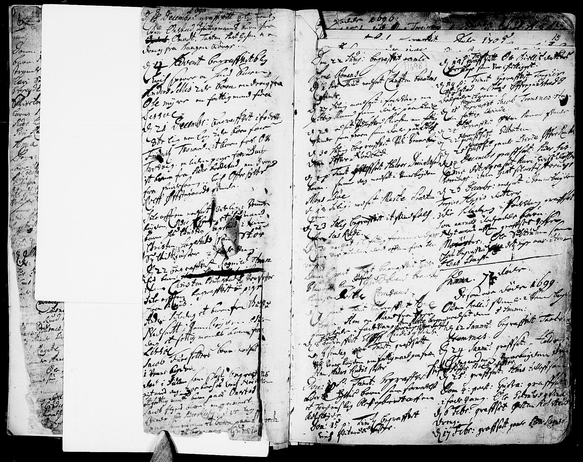 SAH, Ringebu prestekontor, Parish register (official) no. 1, 1696-1733, p. 8-9