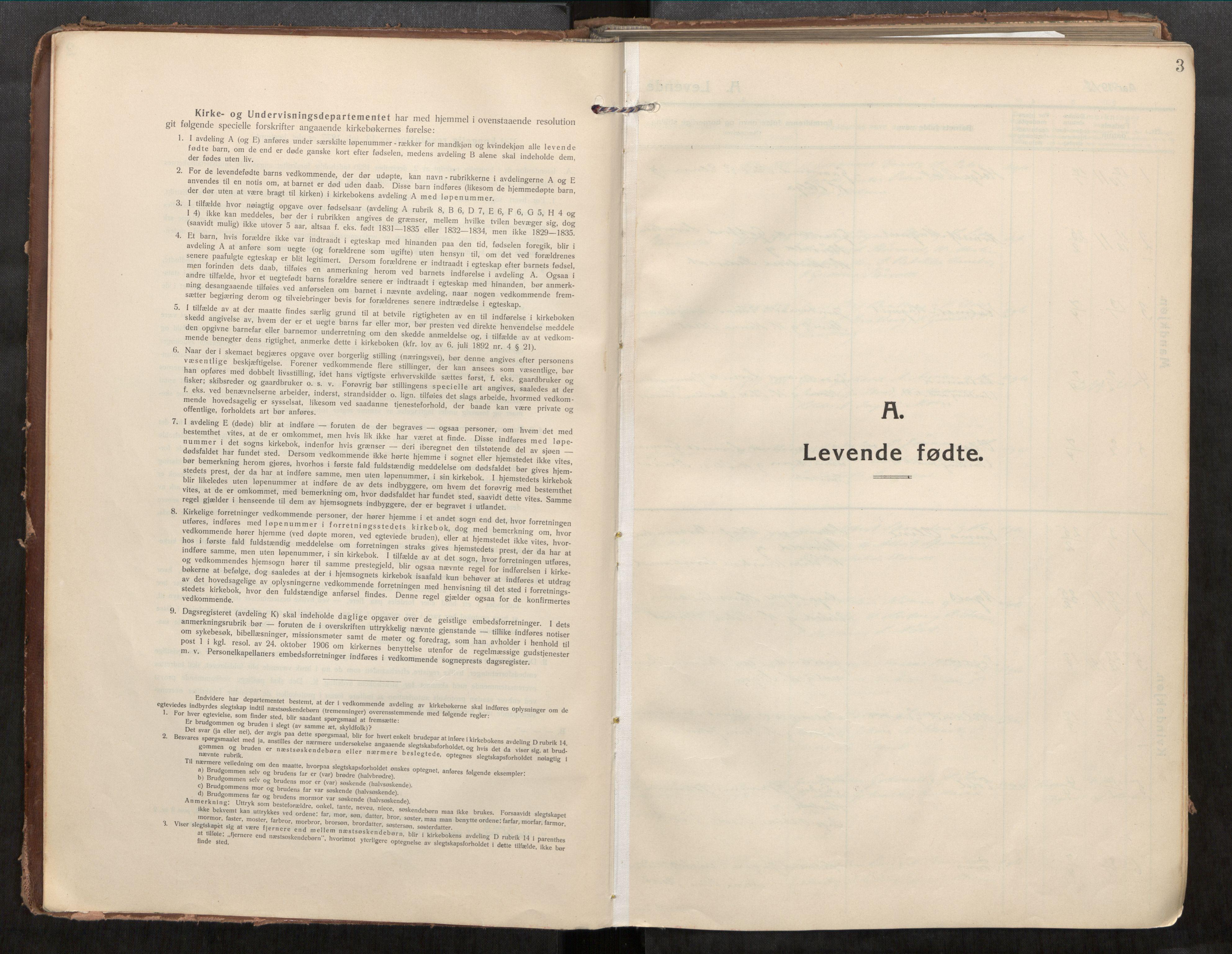 SAT, Beitstad sokneprestkontor, I/I1/I1a/L0001: Parish register (official) no. 1, 1912-1927, p. 3
