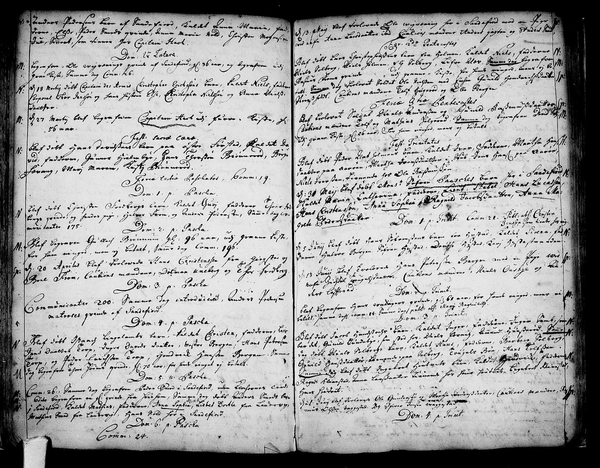 SAKO, Sandar kirkebøker, F/Fa/L0001: Parish register (official) no. 1, 1709-1733
