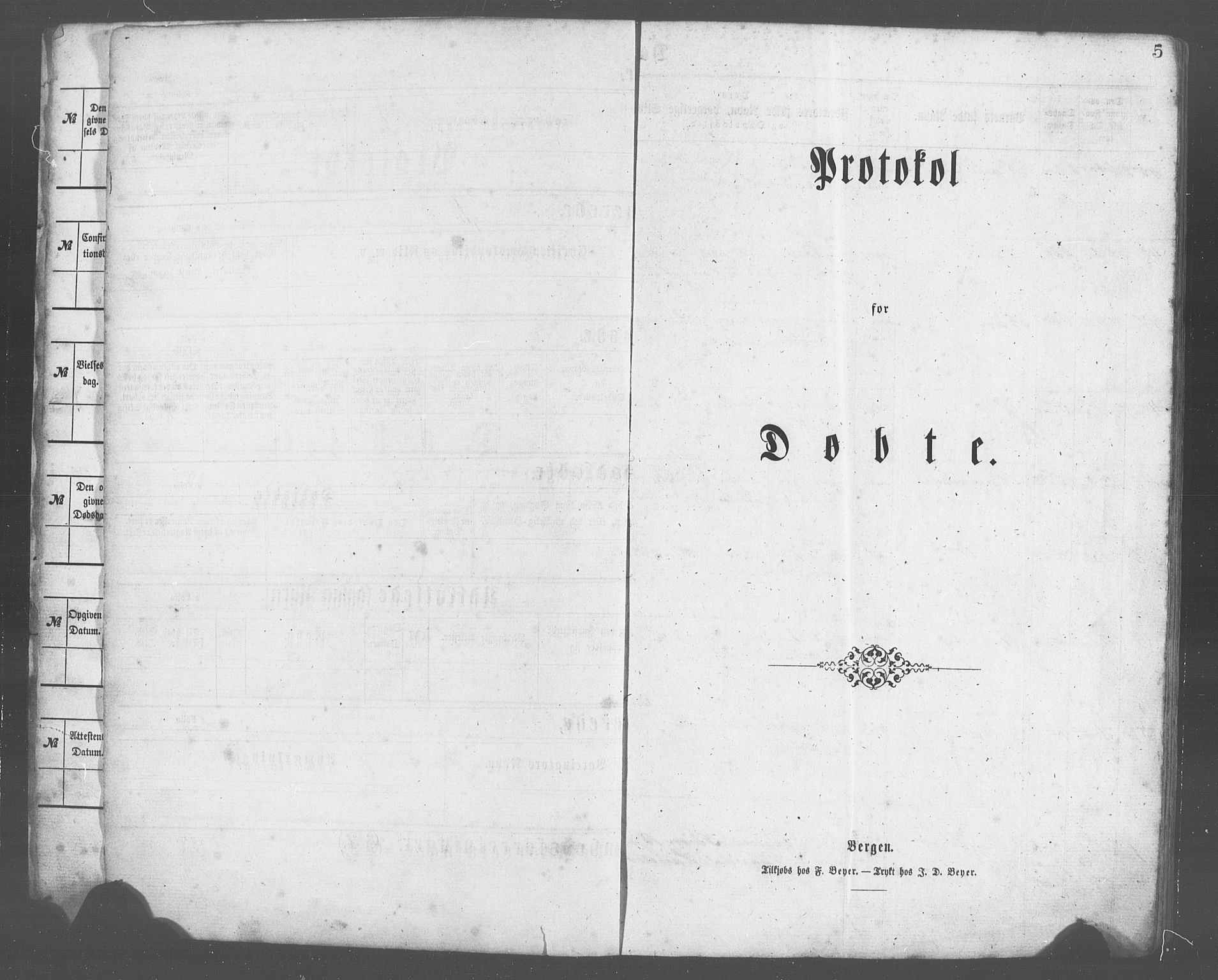 SAB, Evanger sokneprestembete*, Parish register (copy) no. A 2, 1863-1879, p. 5