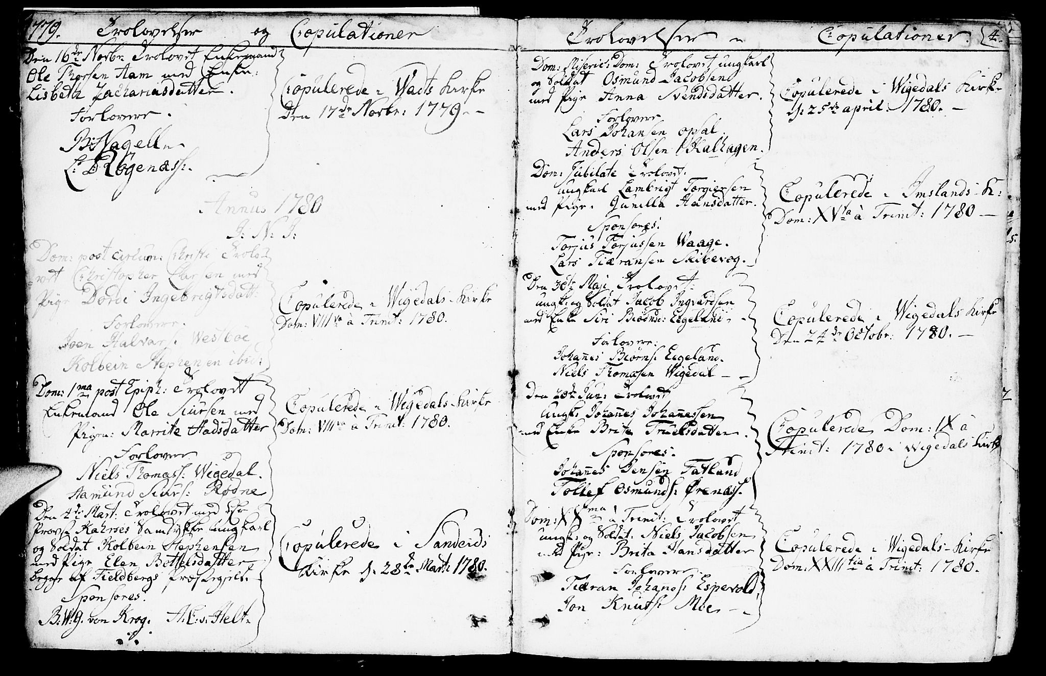 SAST, Vikedal sokneprestkontor, IV: Parish register (official) no. A 2, 1779-1817, p. 4